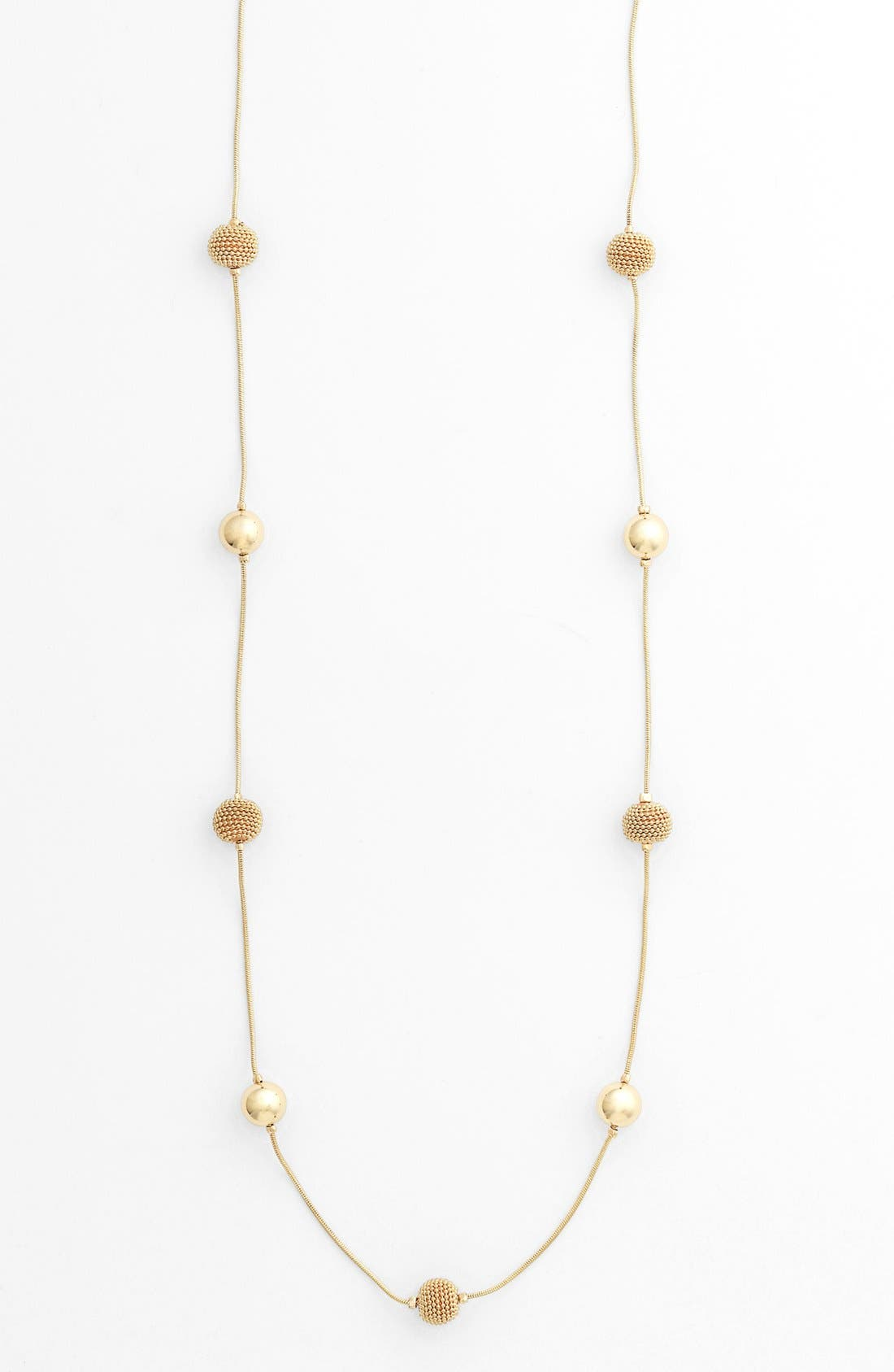 Alternate Image 1 Selected - Anne Klein Extra Long Station Necklace