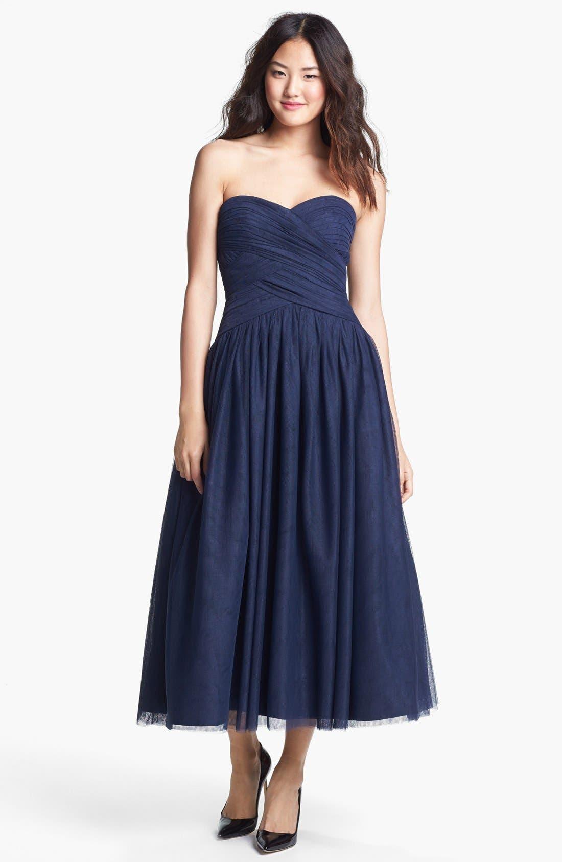 Main Image - ML Monique Lhuillier Tulle Fit & Flare Dress