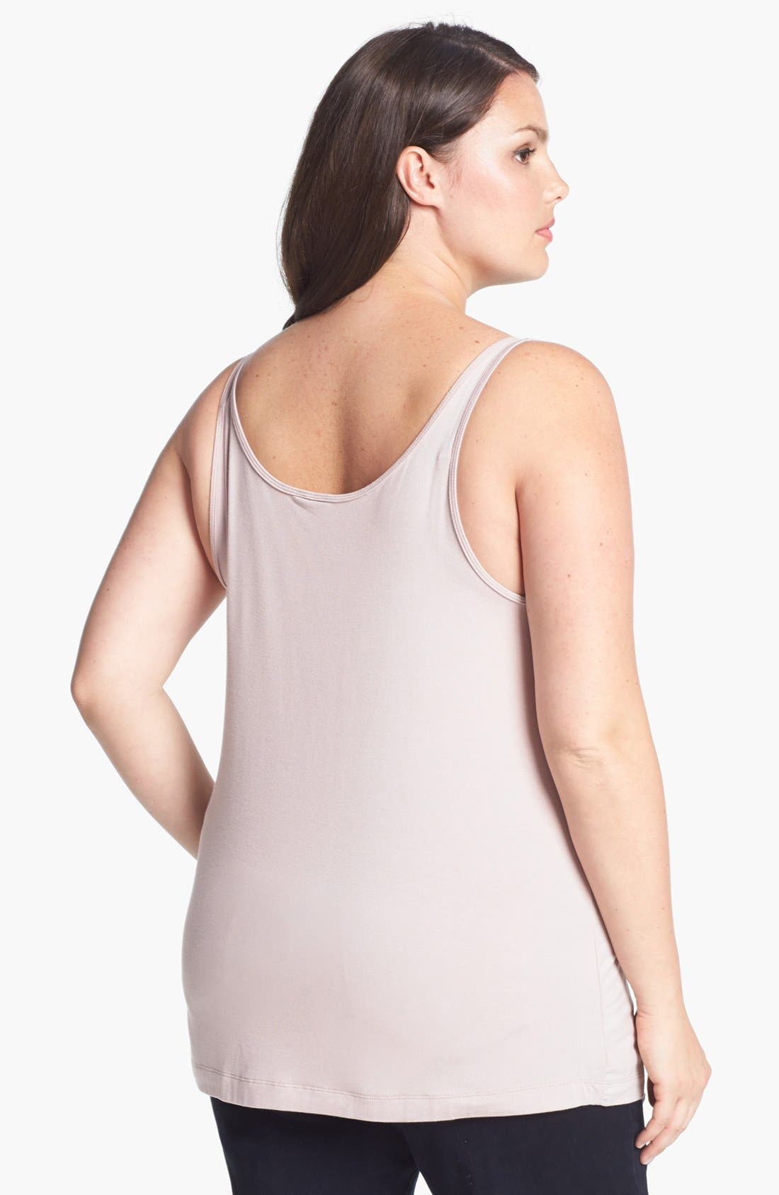 Alternate Image 2  - 14th & Union Skinny Strap Tank (Plus Size) (Special Purchase)