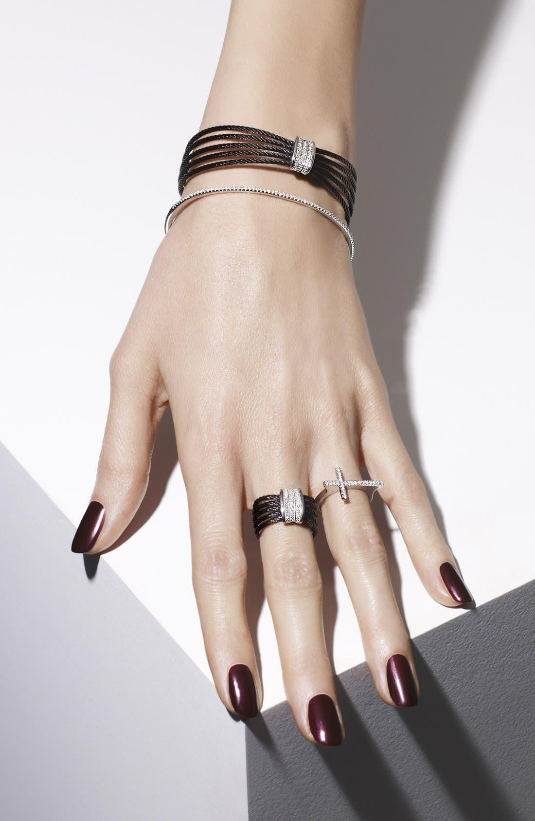 Alternate Image 2  - Bony Levy Diamond Cross Ring (Nordstrom Exclusive)