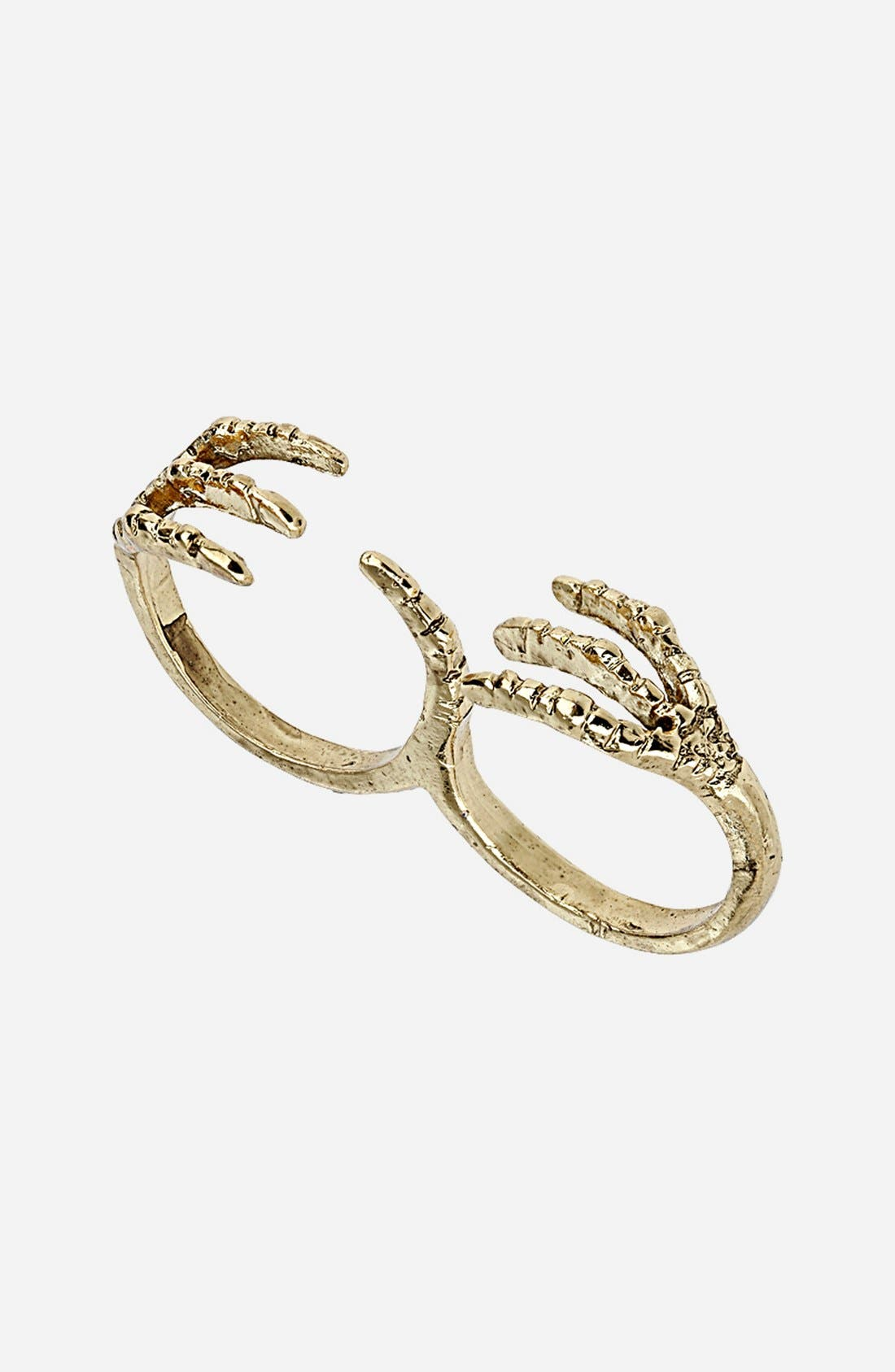 Alternate Image 1 Selected - Topshop Double Finger Claw Ring