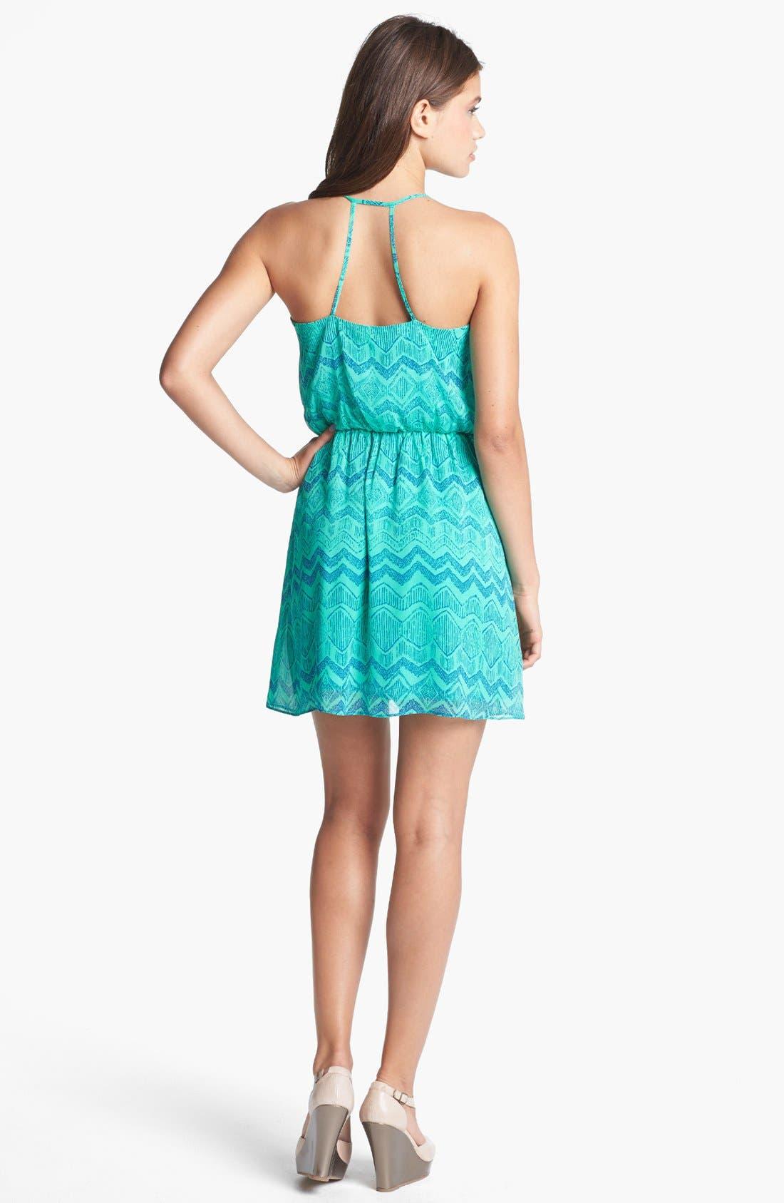 Alternate Image 2  - Soprano Strappy Print Racerback Dress (Juniors)