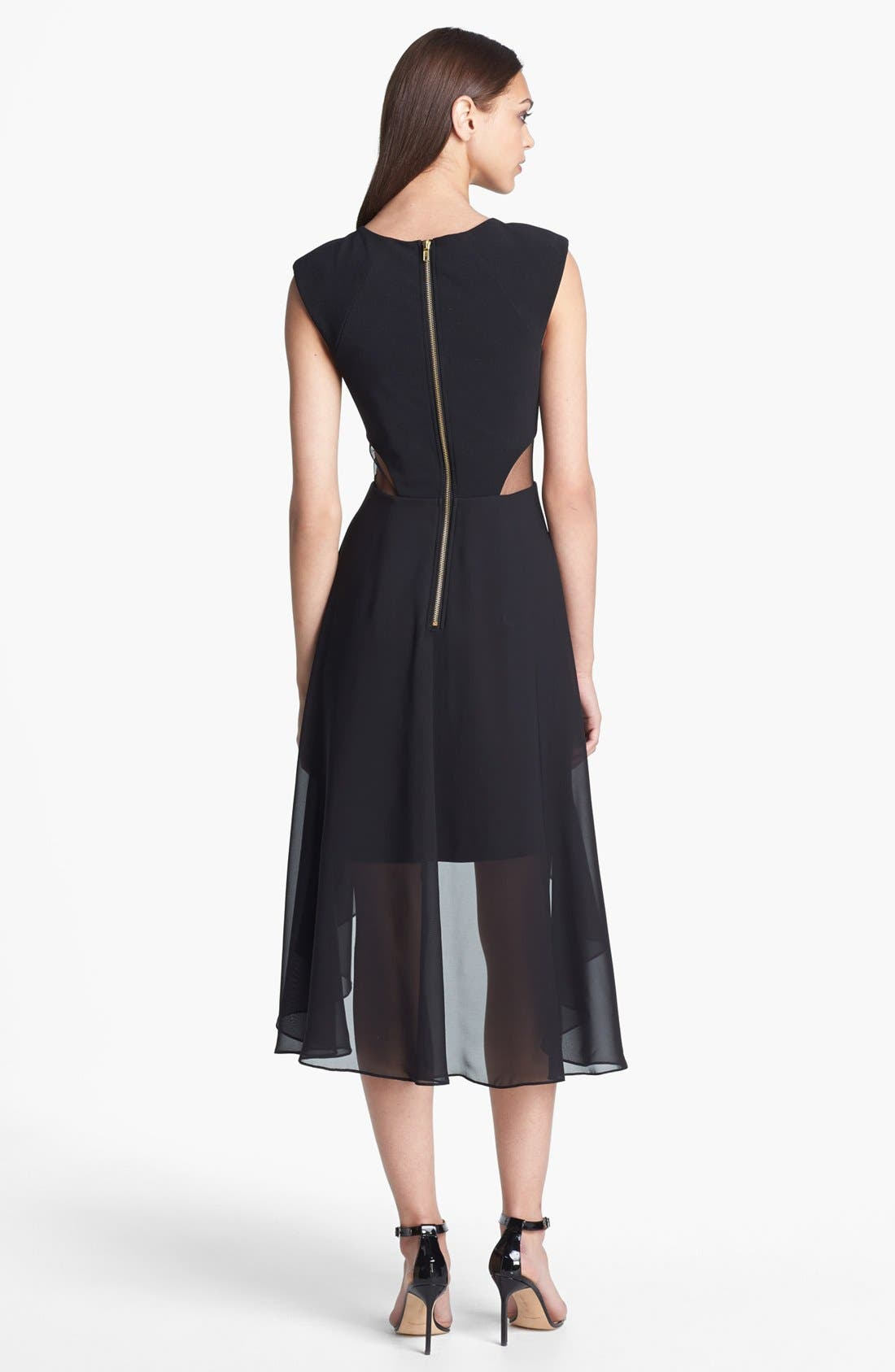 Alternate Image 2  - Hailey by Adrianna Papell Cutout Chiffon Overlay Sheath Dress (Online Only)