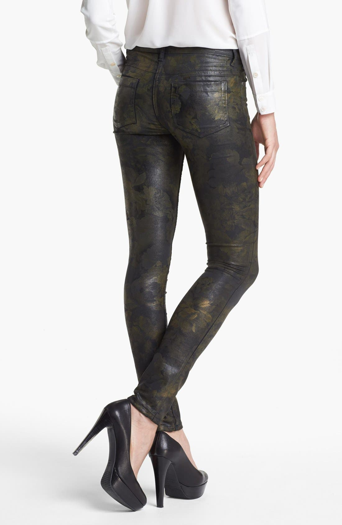 Alternate Image 4  - Two by Vince Camuto Coated Print Skinny Jeans
