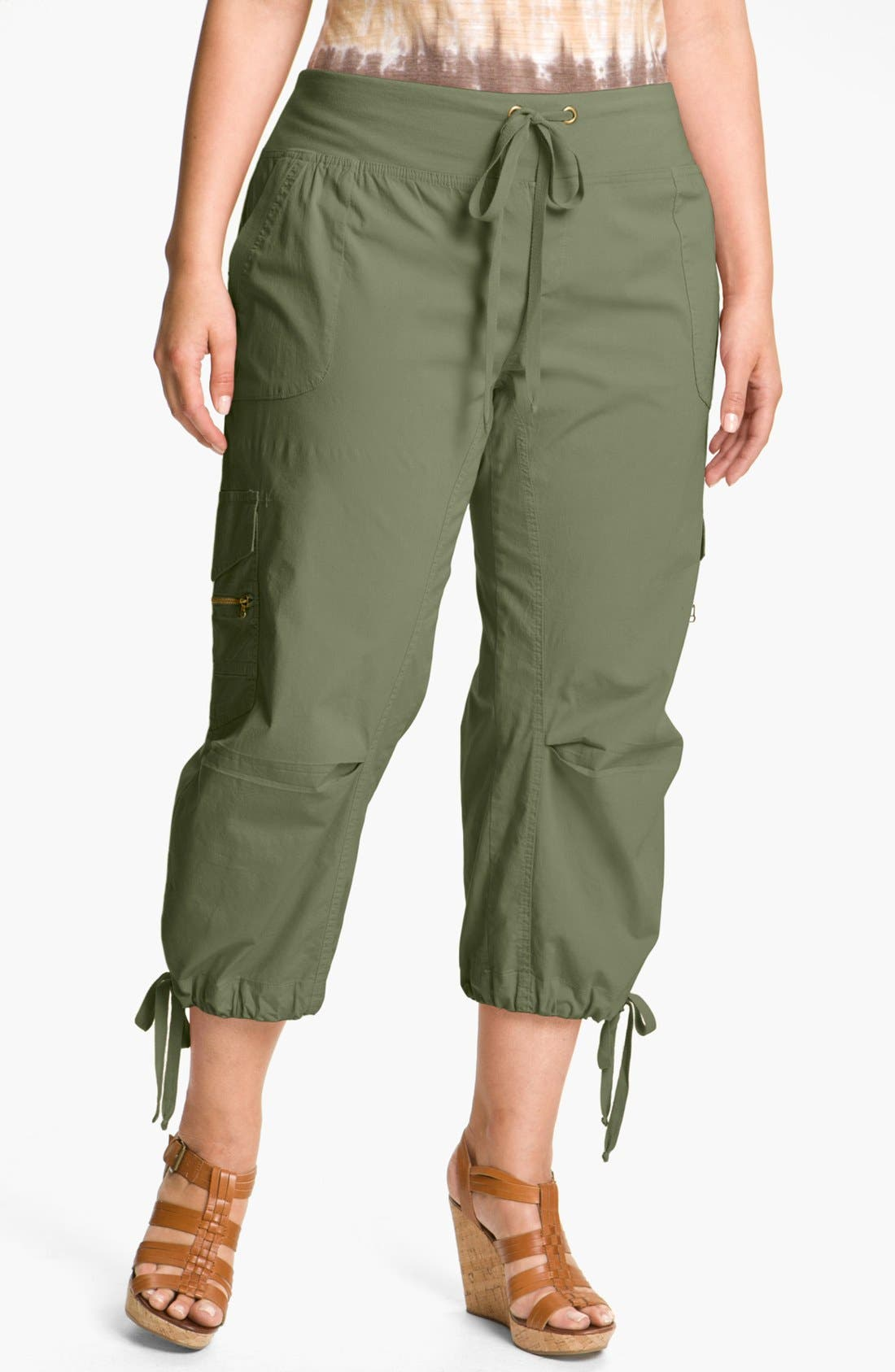 Alternate Image 1 Selected - XCVI Wearables 'Edelweiss' Crop Pants (Plus Size)