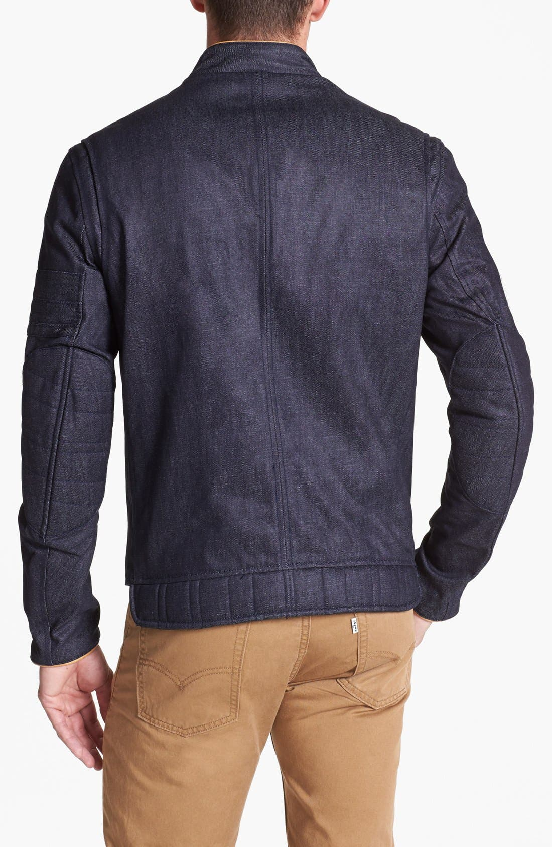 Alternate Image 2  - Denim & Leathers by Andrew Marc Café Racer Denim Jacket