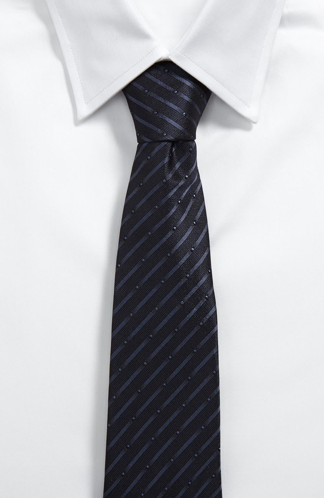 Alternate Image 2  - Armani Collezioni Woven Silk Tie