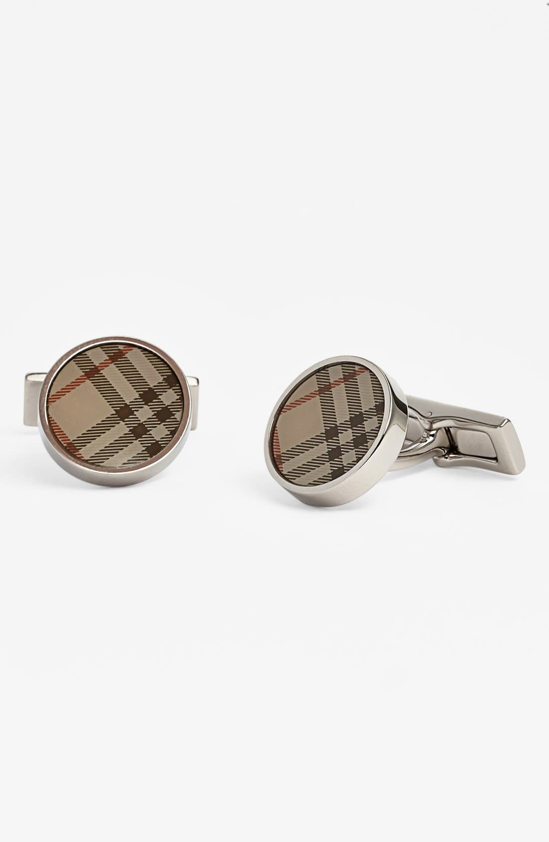 Alternate Image 1 Selected - Burberry Round Cuff Links