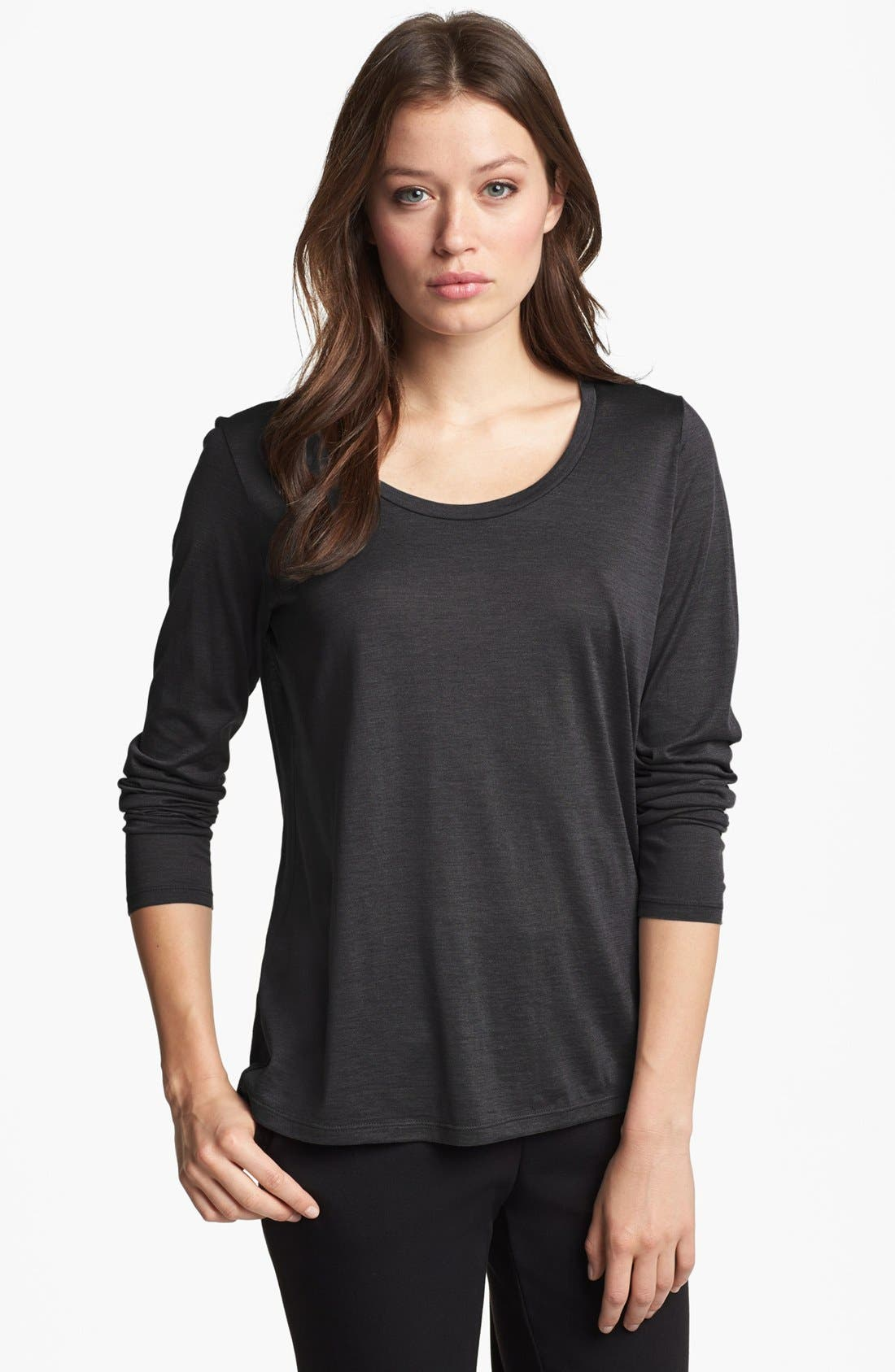 Alternate Image 1 Selected - Eileen Fisher U-Neck Tee