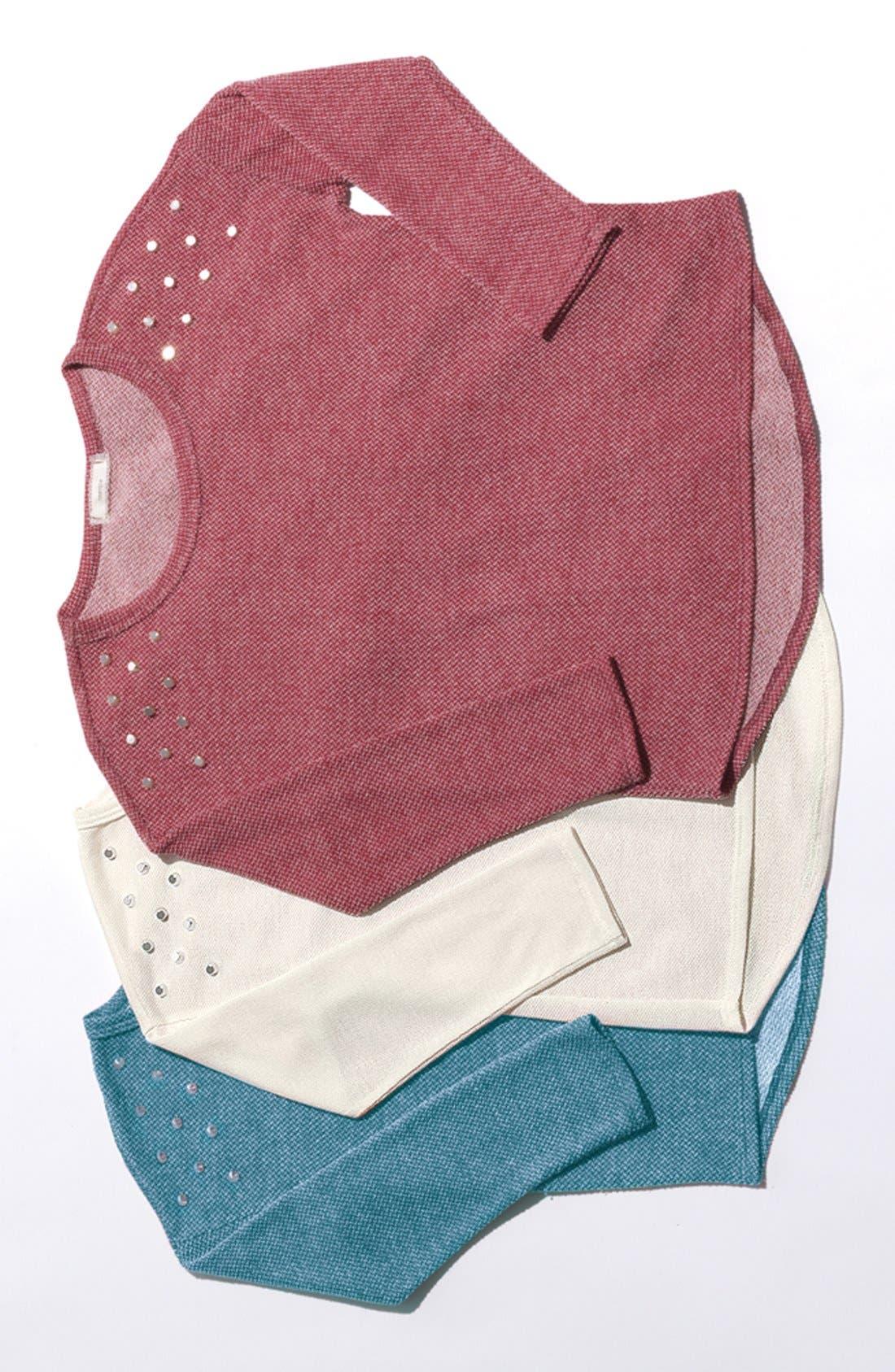 Alternate Image 3  - Soprano Stud Shoulder Sweater (Big Girls)