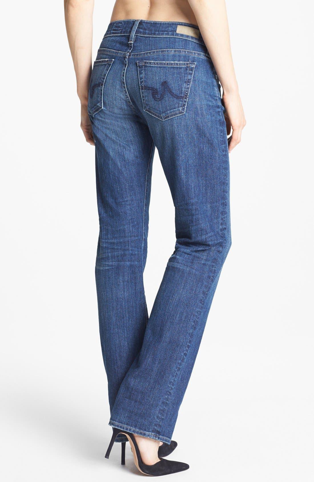 Alternate Image 2  - AG Jeans Relaxed Jeans, Ella Moss Top & Linda Richards Vest