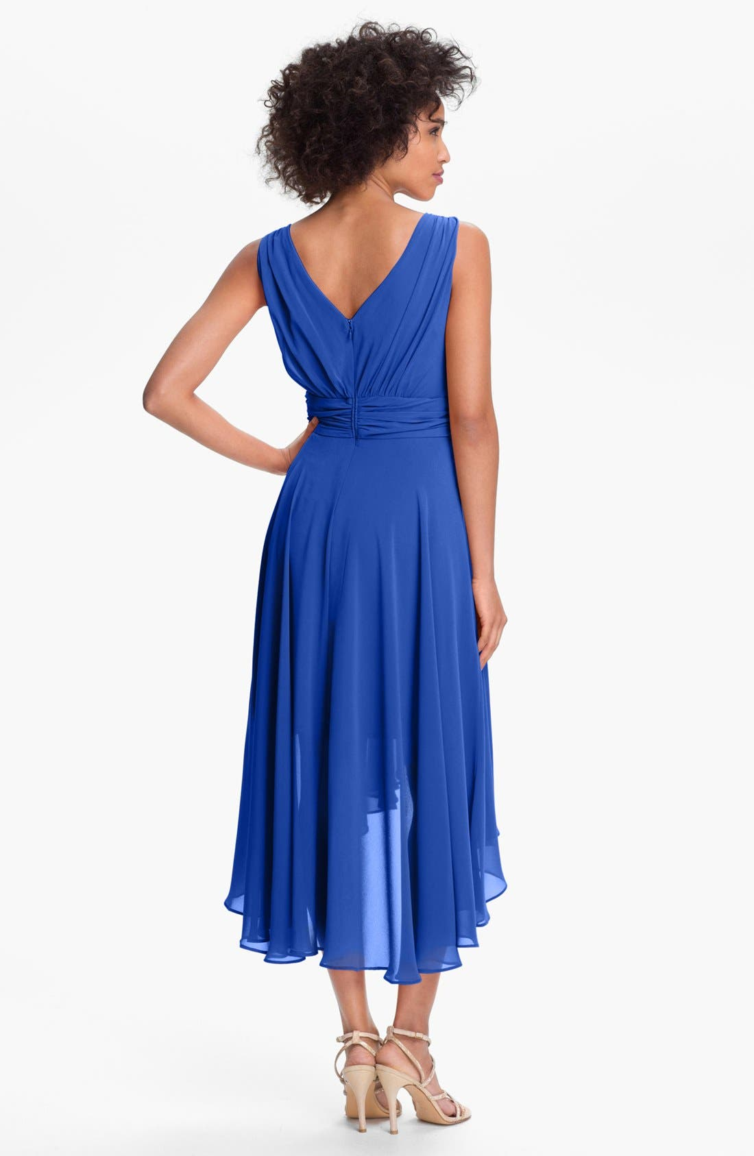Alternate Image 2  - Ivy & Blu High/Low Chiffon Dress (Regular & Petite)