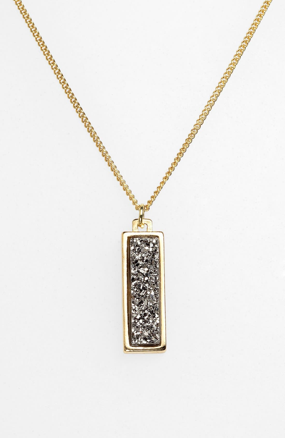 Alternate Image 2  - Marcia Moran Drusy Pendant Necklace (Online Only)
