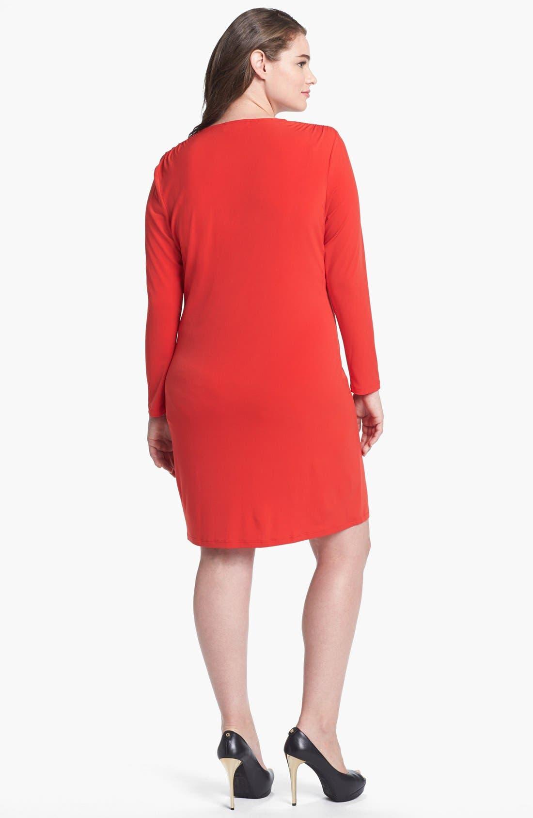 Alternate Image 2  - MICHAEL Michael Kors Studded Cowl Neck Dress (Plus Size)