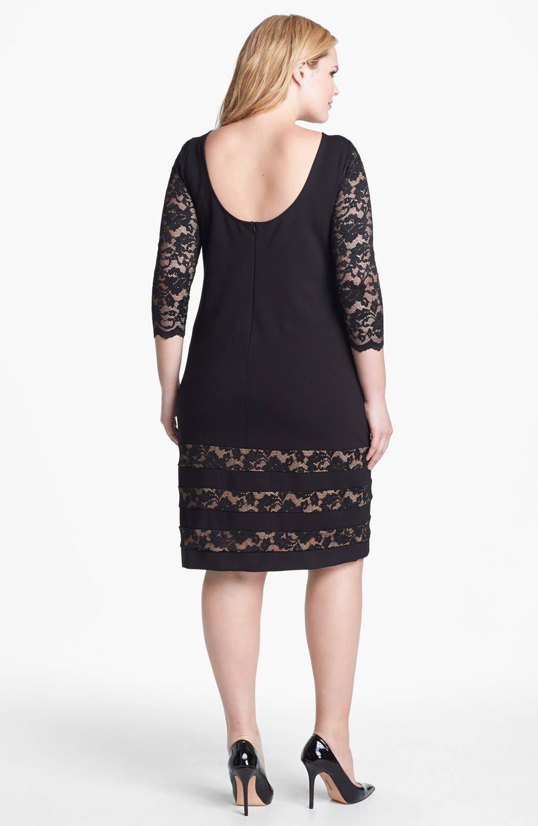 Alternate Image 2  - ABS by Allen Schwartz Lace Detail Sheath Dress (Plus Size)