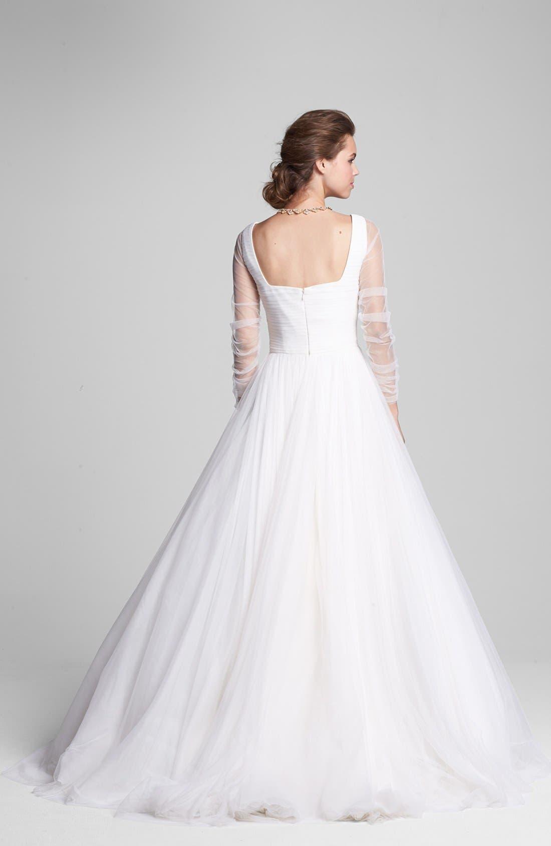 Alternate Image 2  - Rosa Clara 'Belinda' Full Skirt Chiffon Dress (In Stores Only)