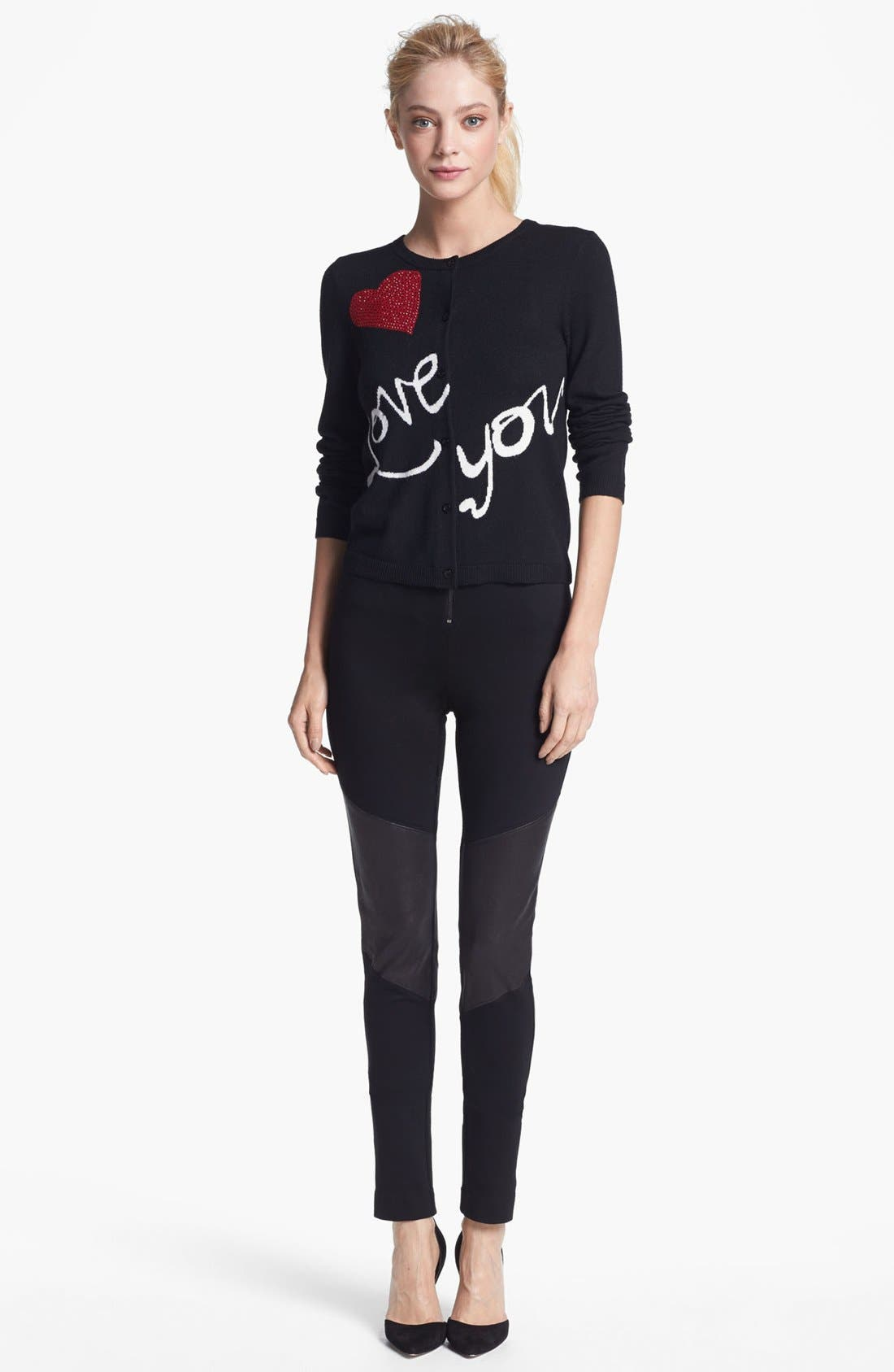 Alternate Image 1 Selected - Alice + Olivia 'Love You' Cardigan