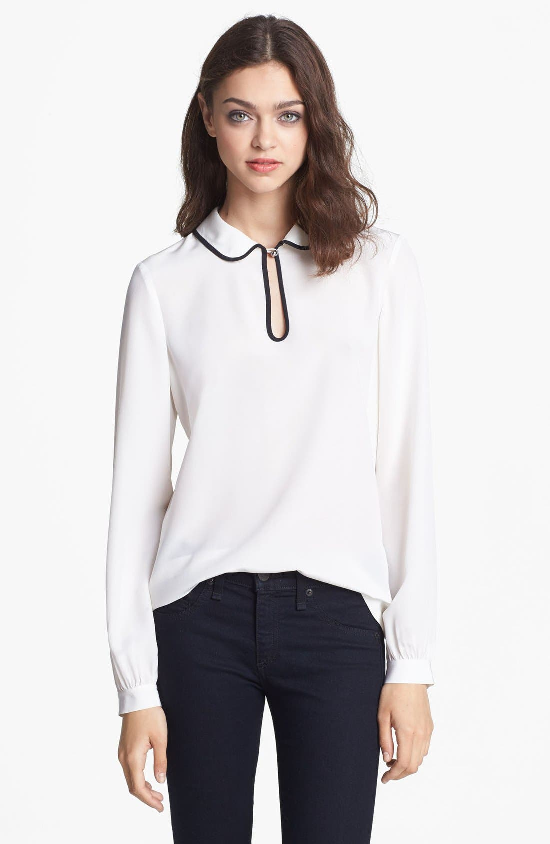 Alternate Image 1 Selected - kate spade new york silk trilby blouse