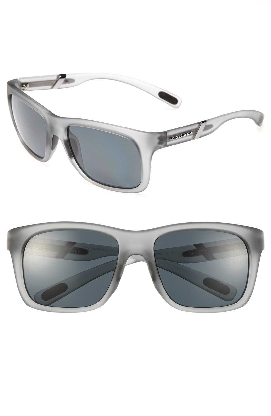 Alternate Image 1 Selected - Dolce&Gabbana 'Gym Classic' 56mm Sunglasses