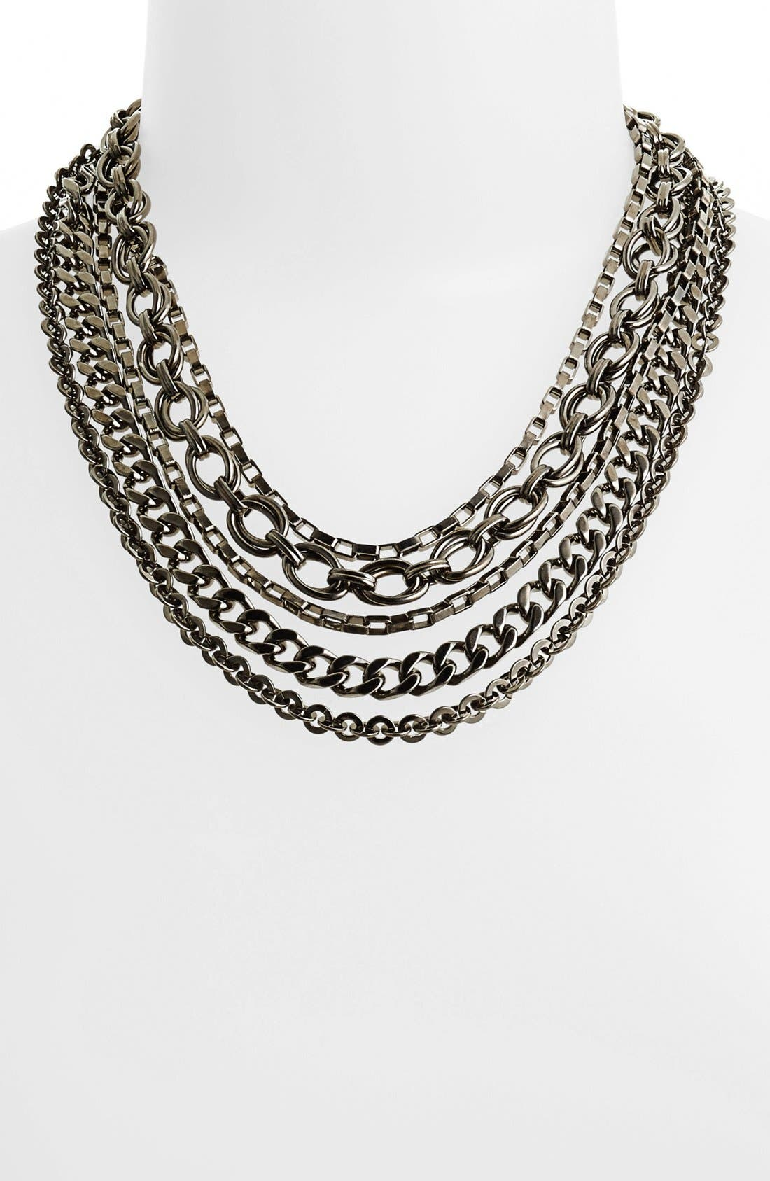Alternate Image 1 Selected - Nordstrom 'Lady Links' Mixed Chain Necklace