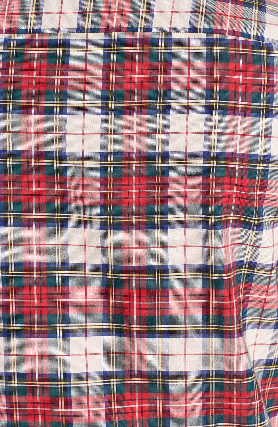 Alternate Image 3  - Topman Plaid Oxford Shirt