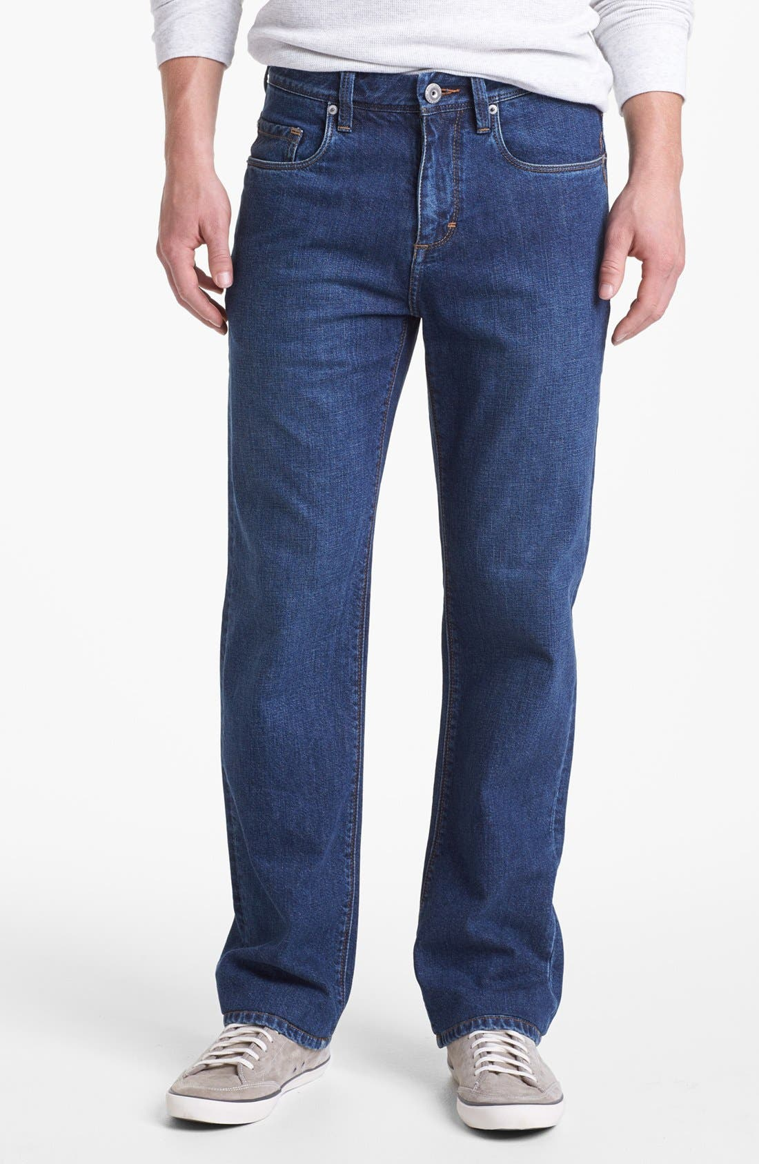 Alternate Image 1  - Tommy Bahama Denim 'Stevie' Standard Fit Jeans (Dark Wash)