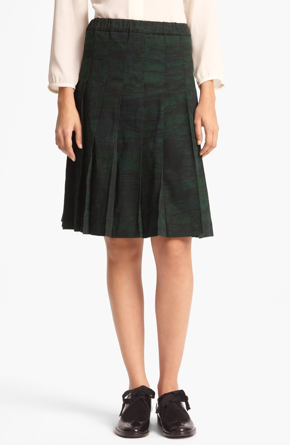 Alternate Image 1 Selected - Marni Pleated Print Gabardine Skirt