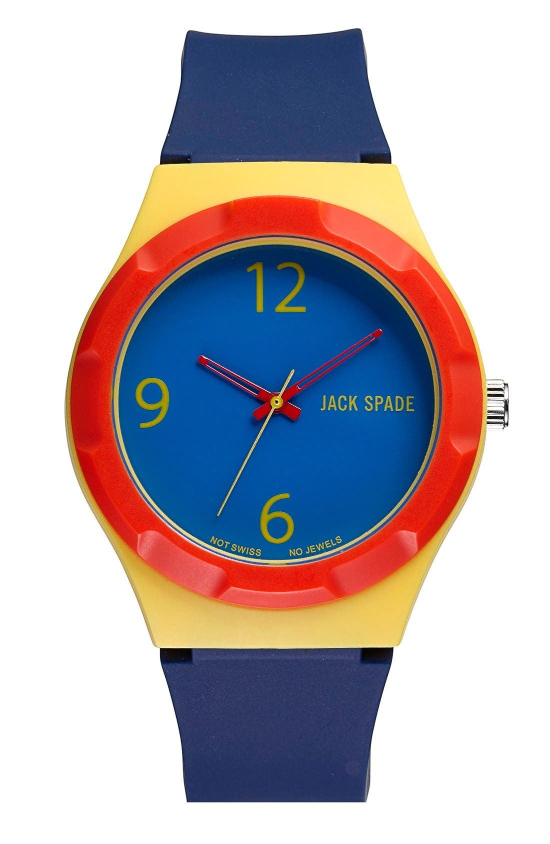 Alternate Image 1 Selected - Jack Spade 'Graphic' Colorblock Watch, 38mm