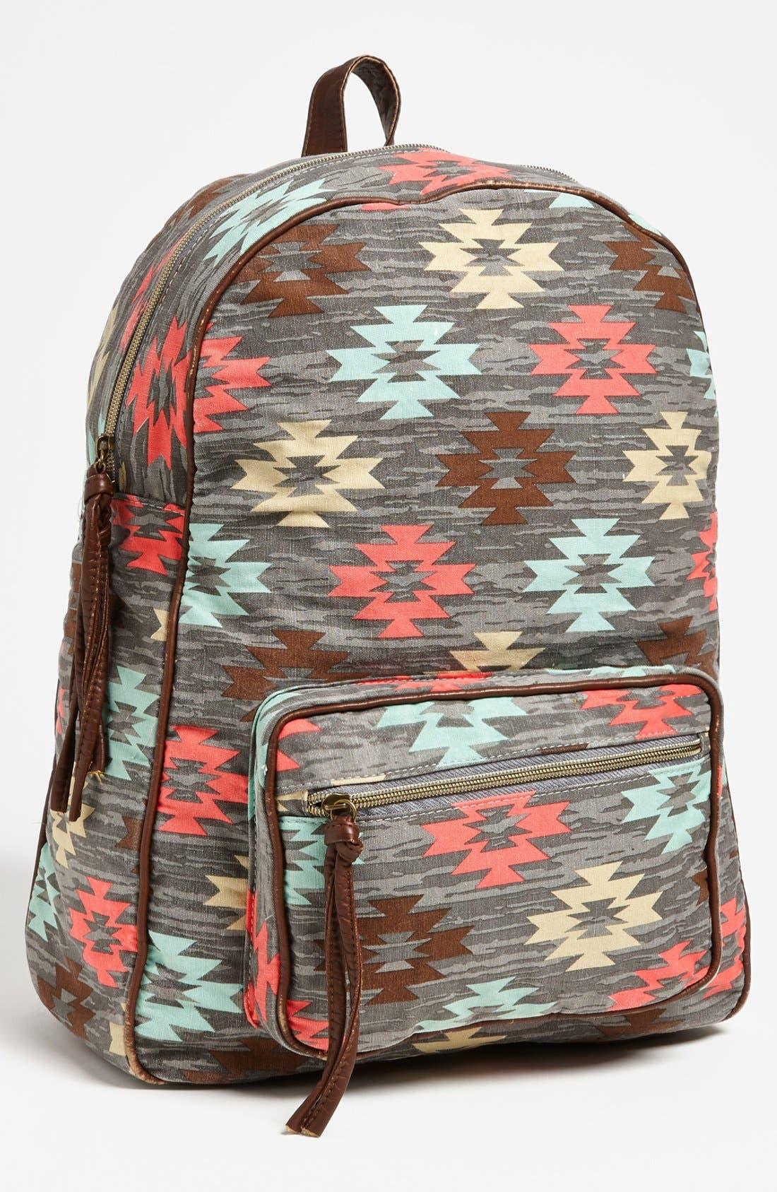 Alternate Image 1 Selected - Lulu Print Canvas Backpack