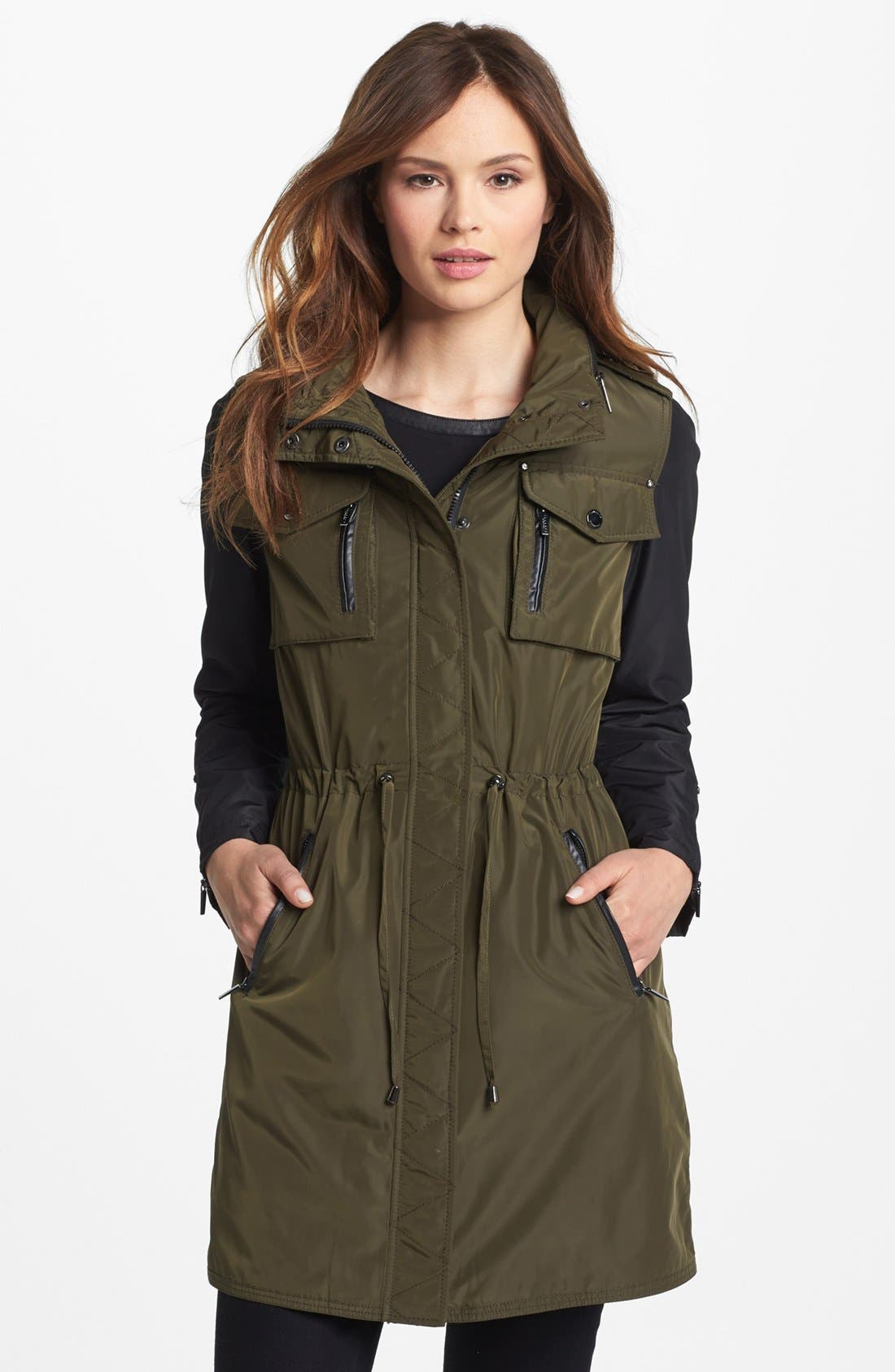 Alternate Image 1 Selected - Laundry by Shelli Segal Two Tone Anorak (Online Only)