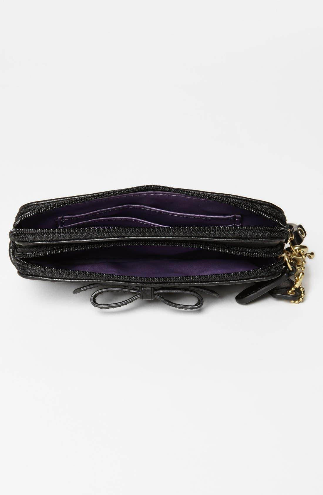Alternate Image 3  - COACH 'Poppy' Leather Wristlet