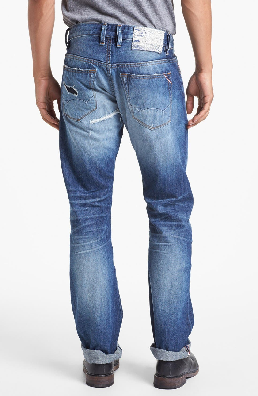 Alternate Image 1 Selected - Cult of Individuality 'Rebel' Straight Leg Selvedge Jeans (Riverside)