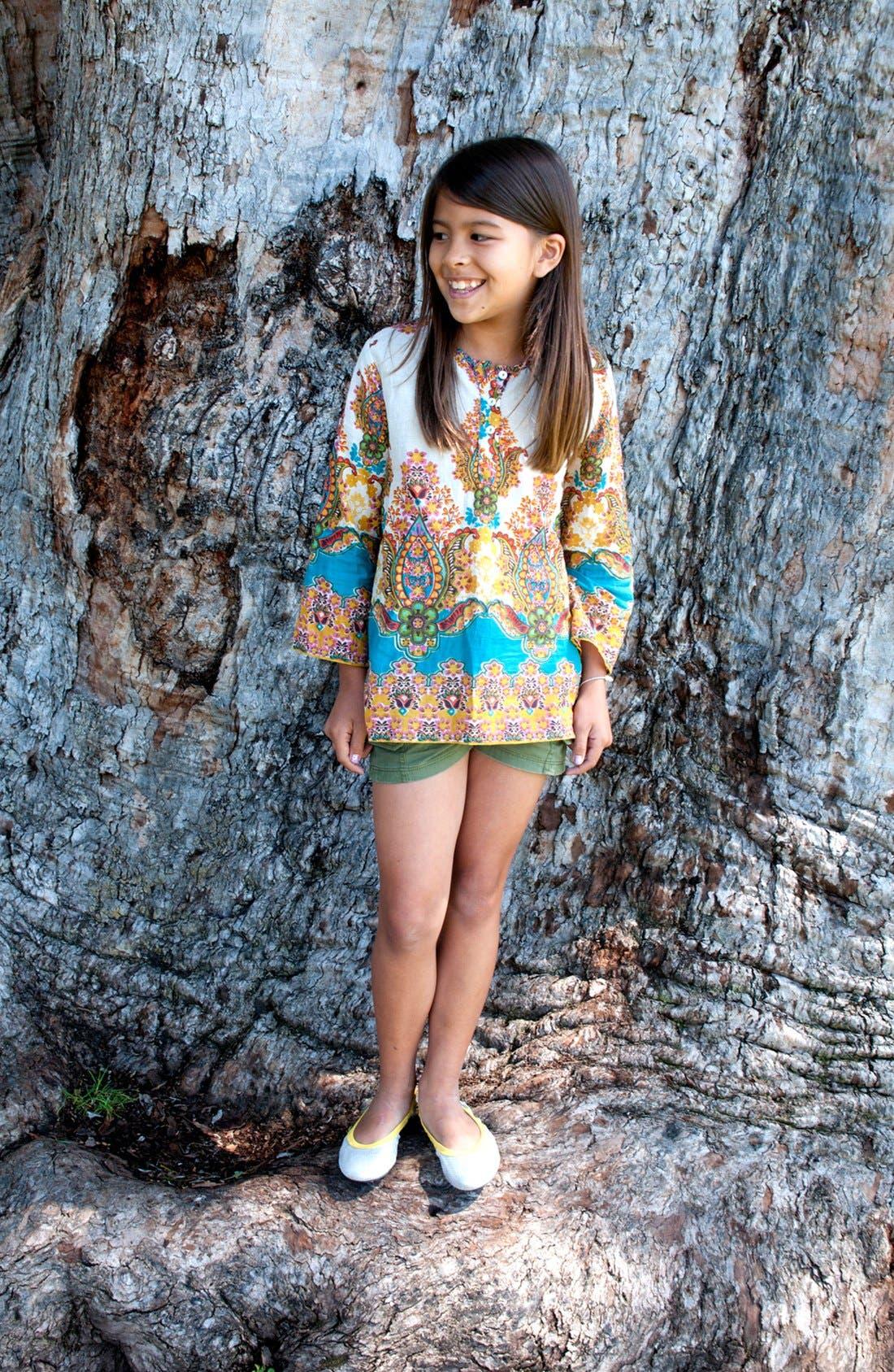 Alternate Image 3  - Peek 'Stella' Cargo Shorts (Big Girls)