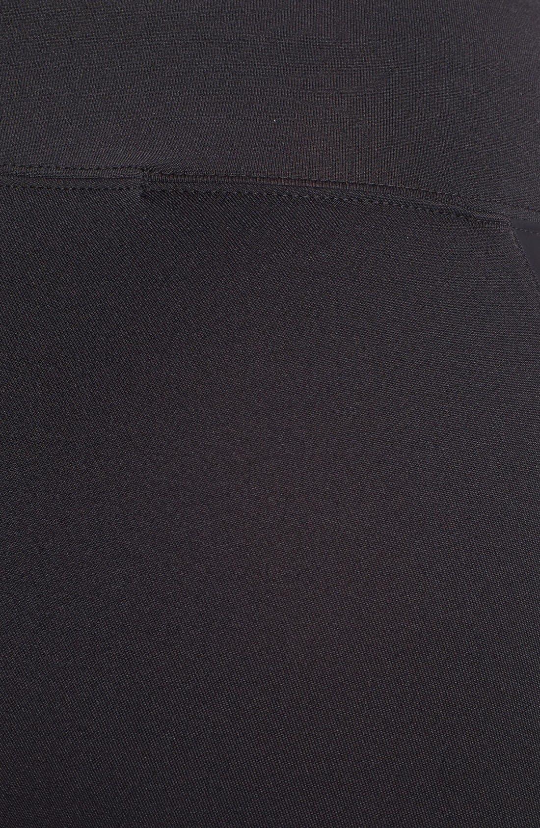 Alternate Image 3  - kensie Faux Leather Inset Leggings