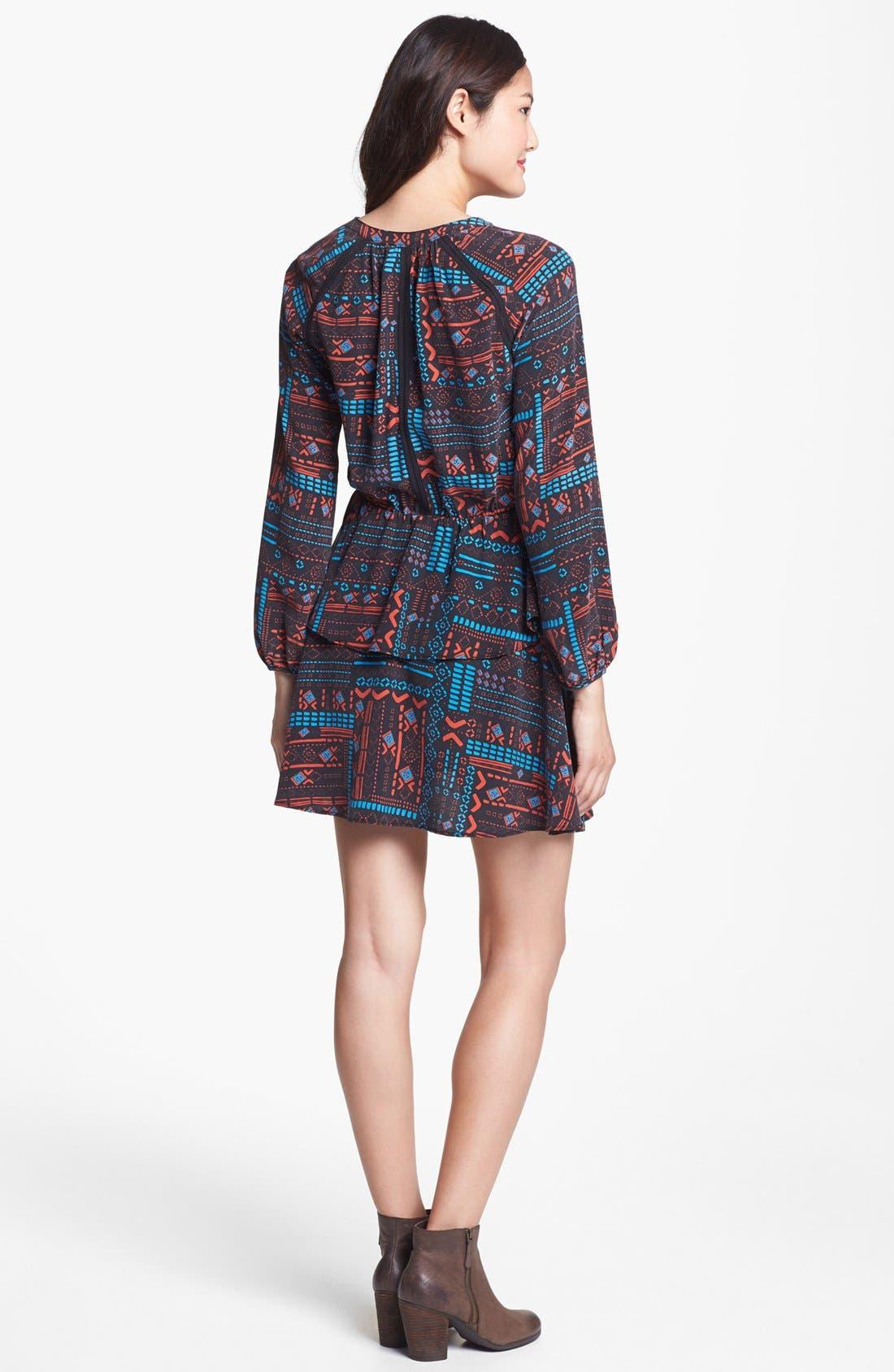 Alternate Image 2  - Dolce Vita Print Tiered Silk Dress