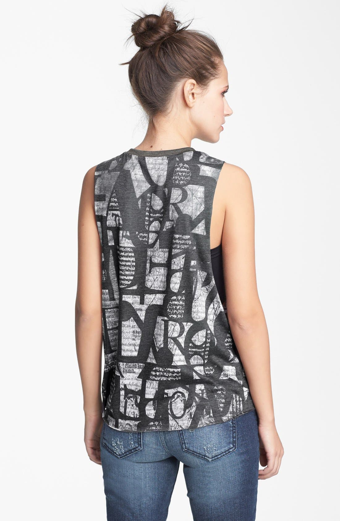Alternate Image 3  - Lush Print Muscle Tank (Juniors)