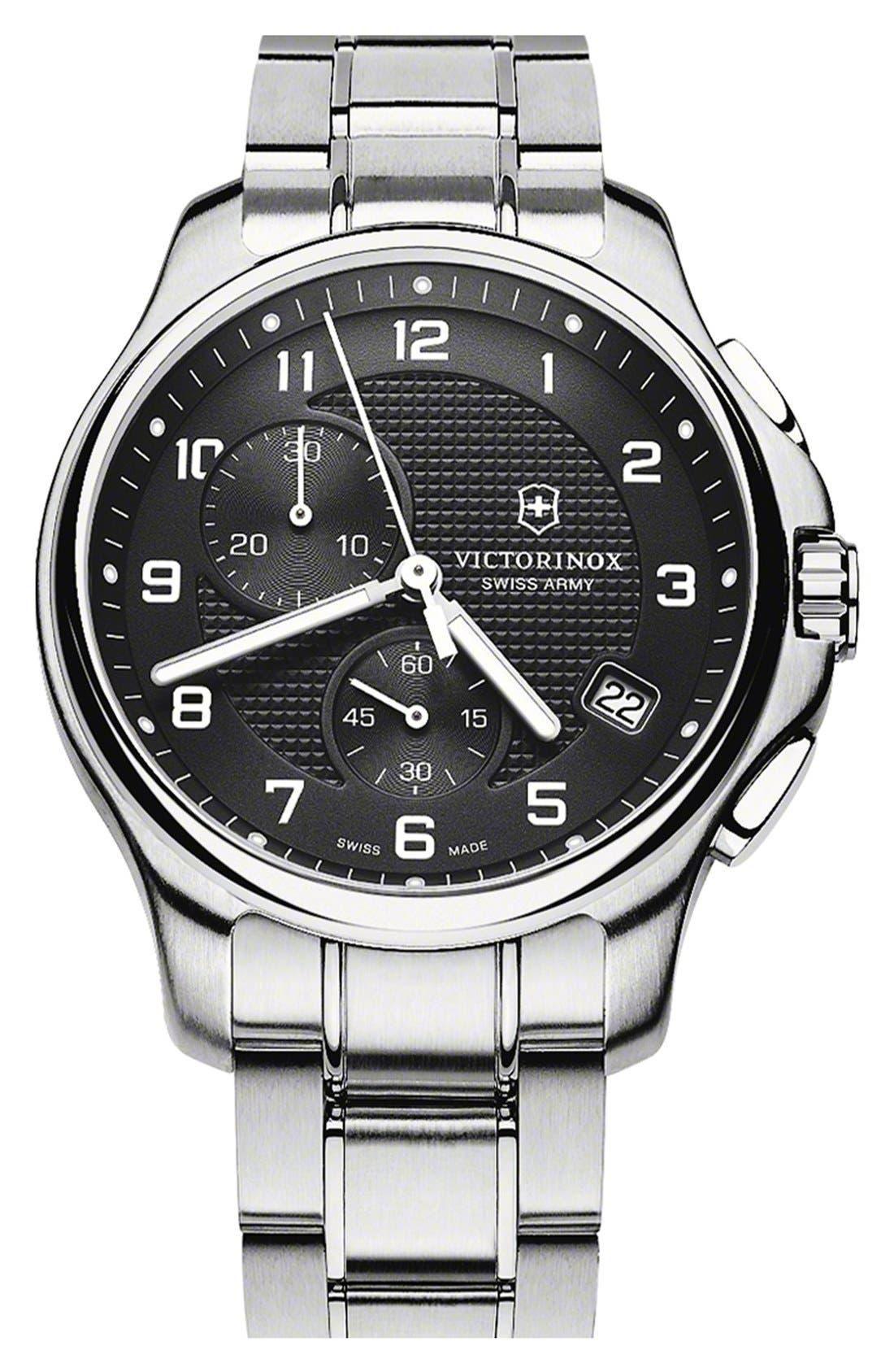 Main Image - Victorinox Swiss Army® 'Officer's' Chronograph Bracelet Watch, 42mm