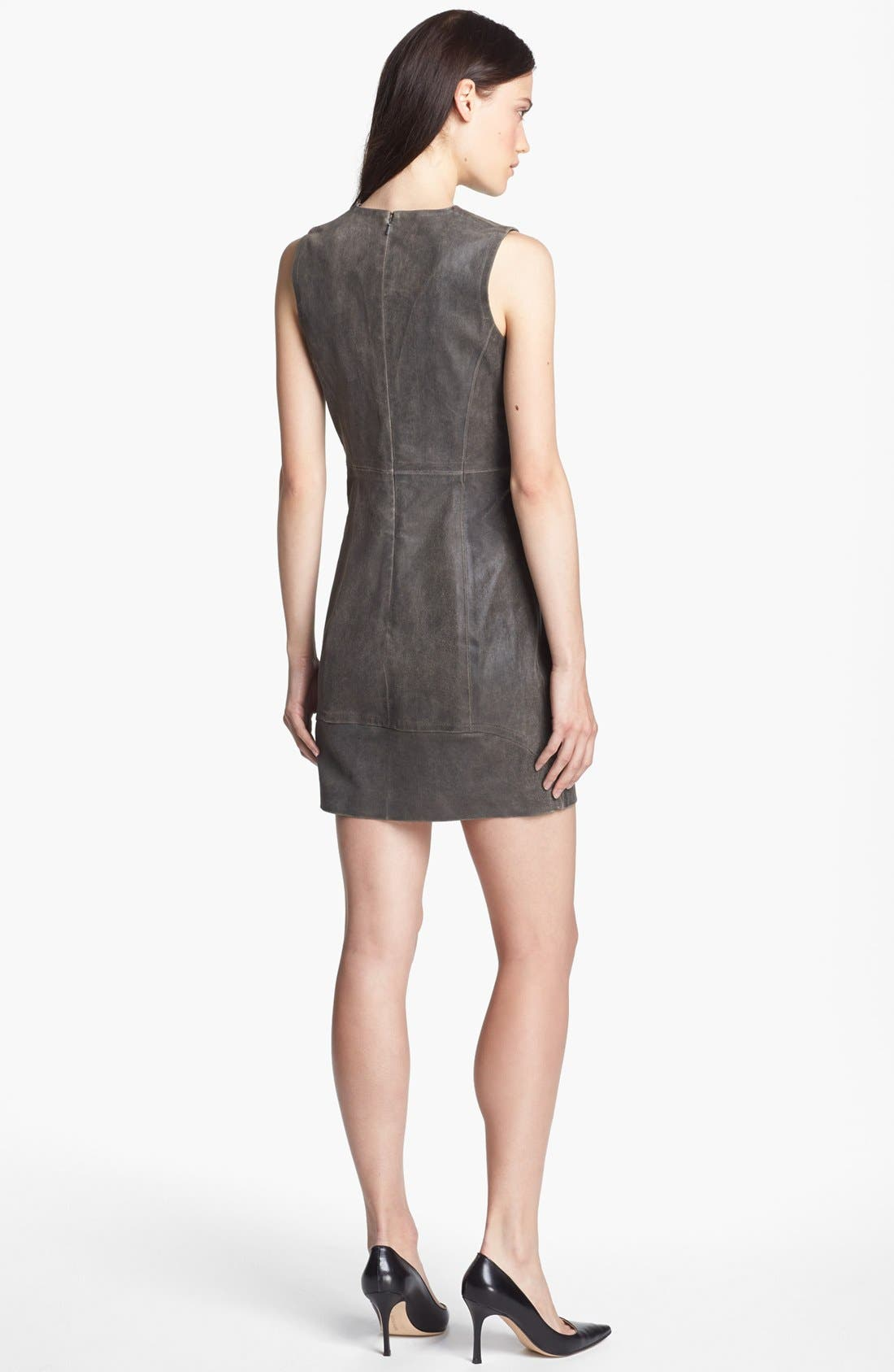 Alternate Image 2  - Theyskens' Theory 'Ducka Nico' Leather Shift Dress