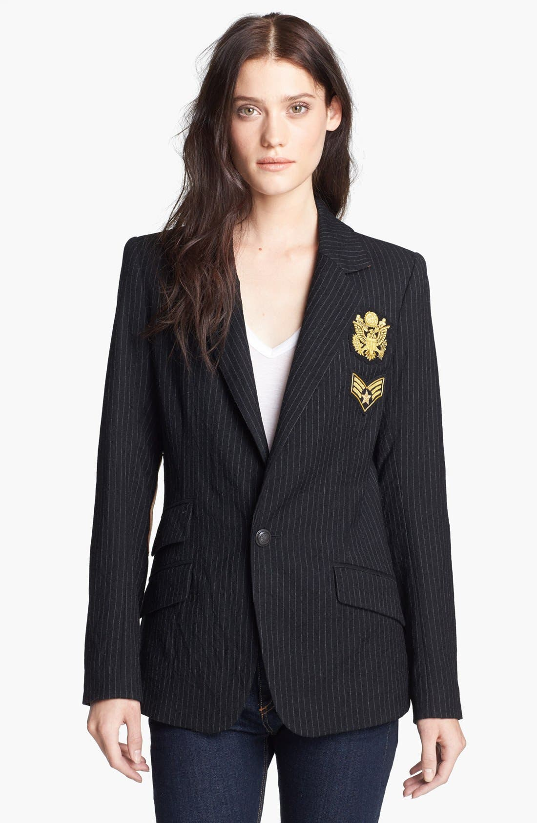 Alternate Image 3  - Laveer 'Revelry' Elbow Patch Single Breasted Blazer