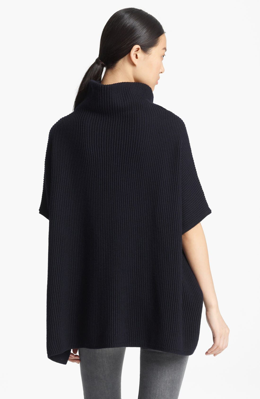 Alternate Image 2  - Valentino Lace Trim Wool Cape