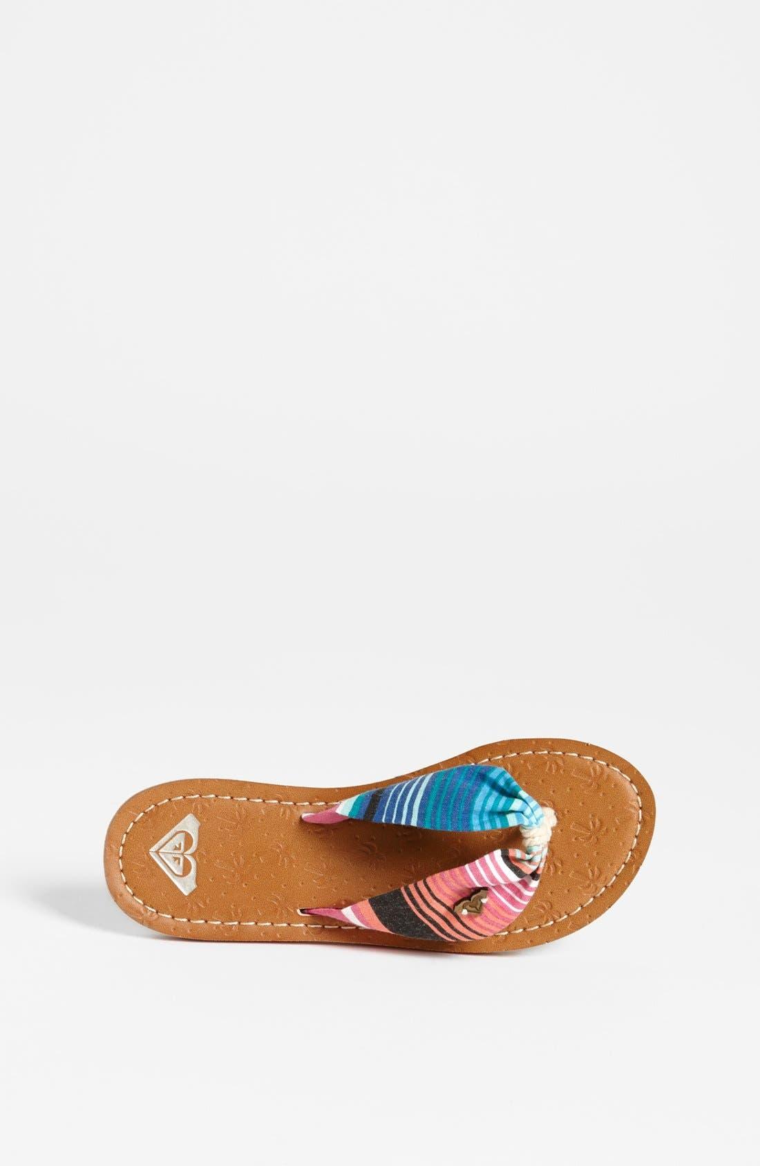 Alternate Image 3  - Roxy Stripe Sandal (Toddler, Little Kid & Big Kid)