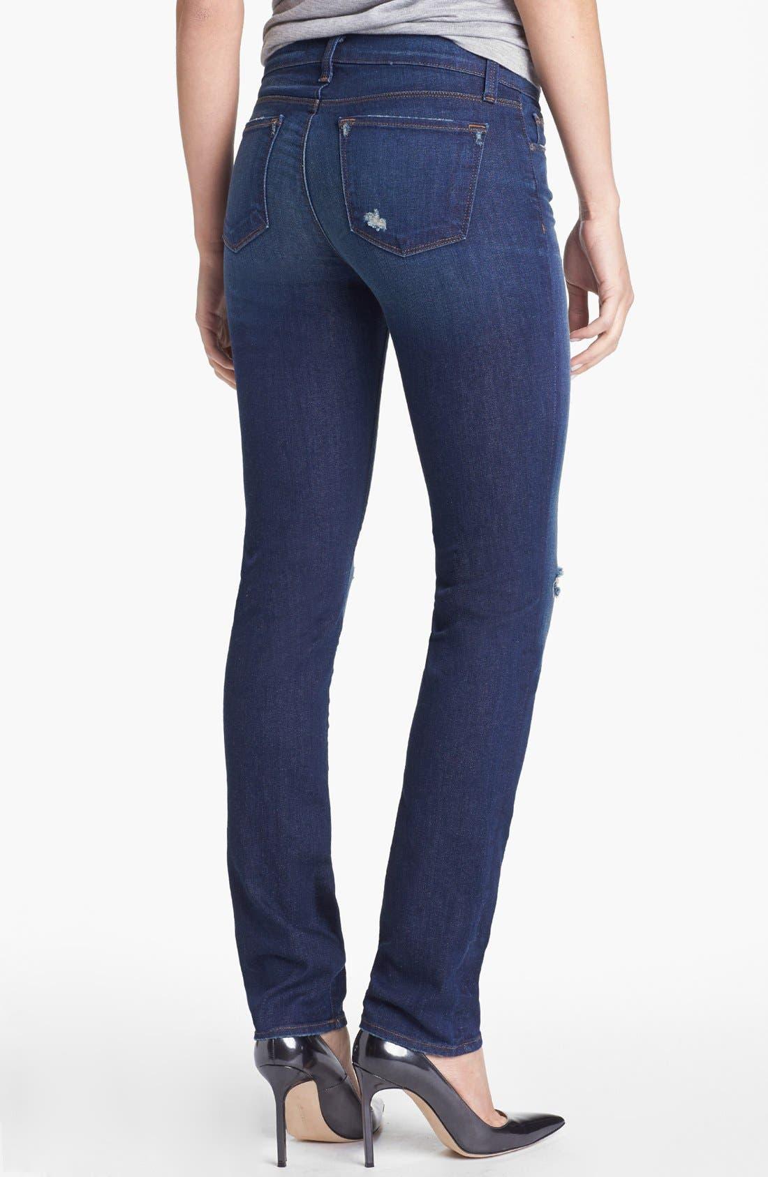 Alternate Image 2  - J Brand 'Rail' Distressed Skinny Jeans (Alta)