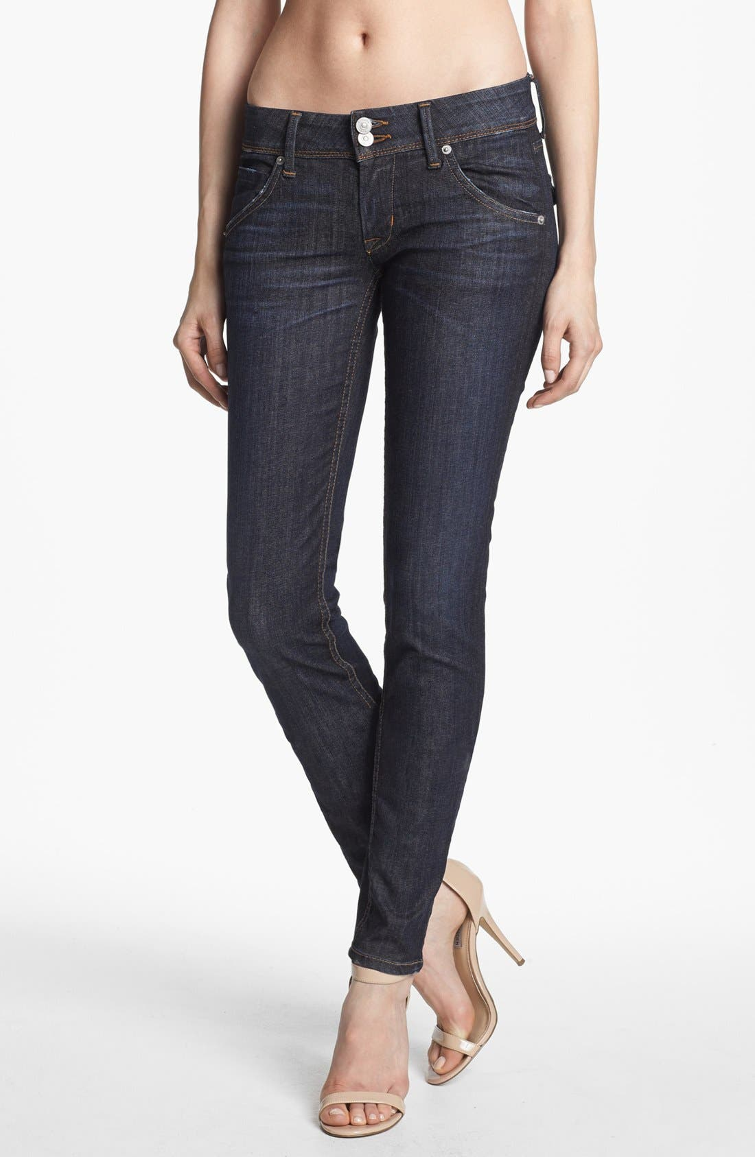 Alternate Image 1 Selected - Hudson Jeans 'Collin' Mid Rise Skinny Jeans (Abbey)