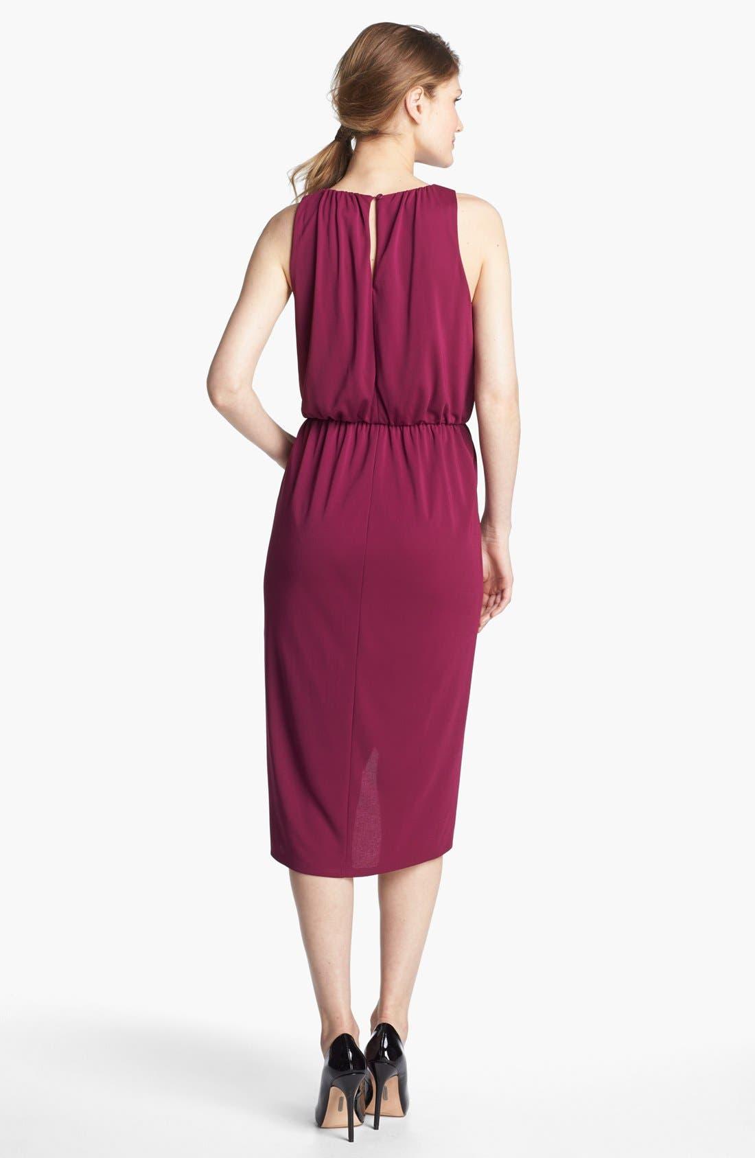 Alternate Image 2  - Adrianna Papell Sleeveless Faux Wrap Dress