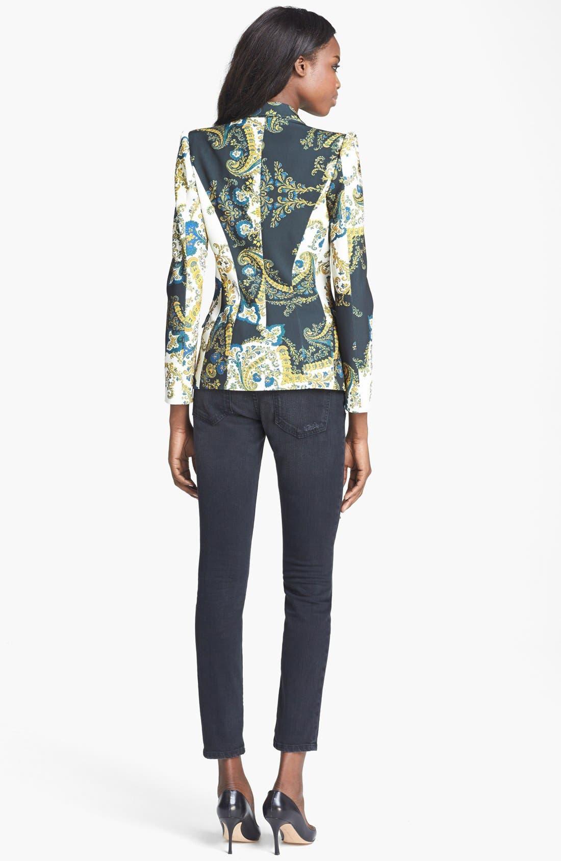 Alternate Image 3  - Just Cavalli Contrast Lapel Paisley Print Jacket
