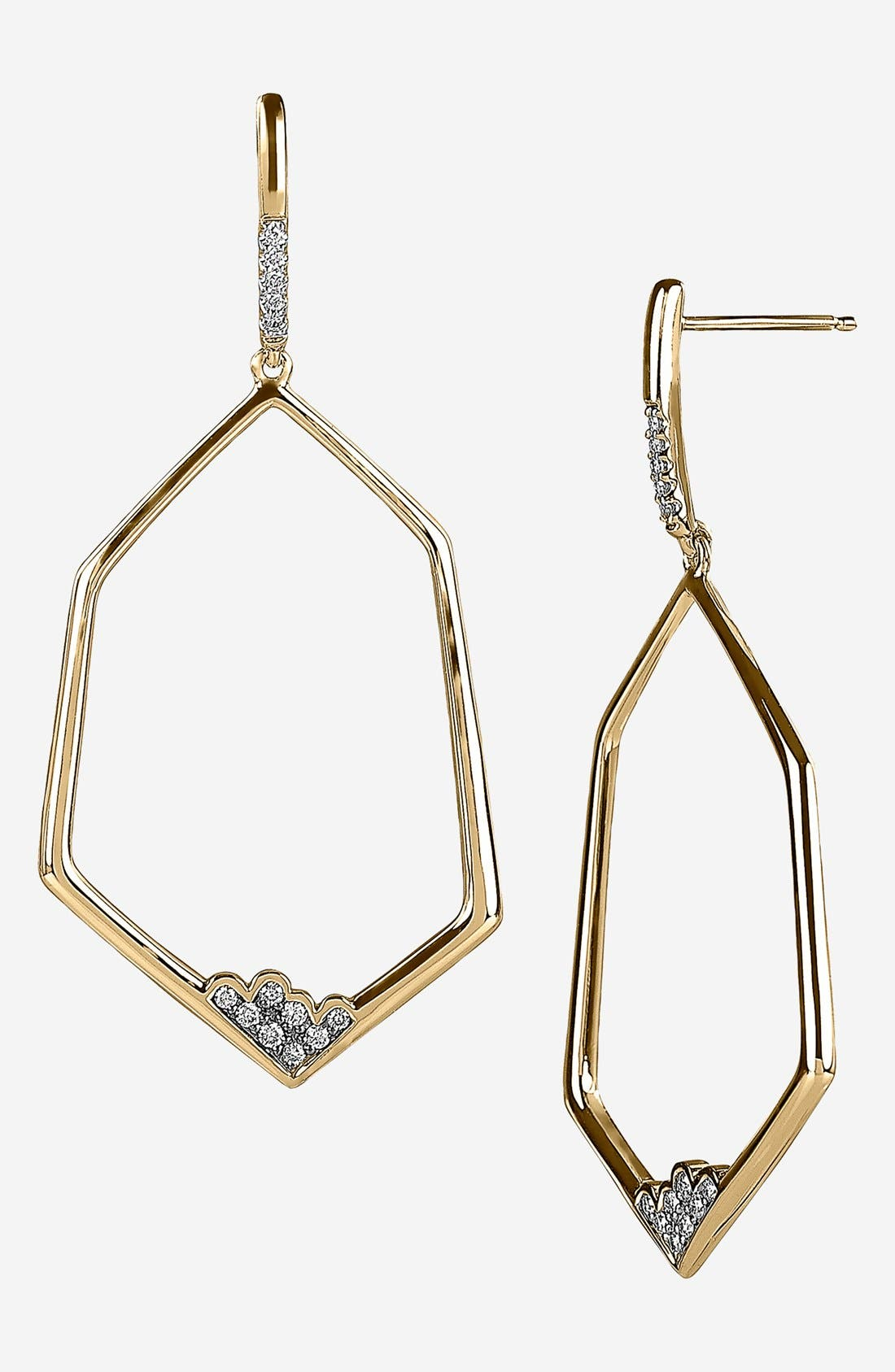 Main Image - Whitney Stern Hexagon Drop Earrings