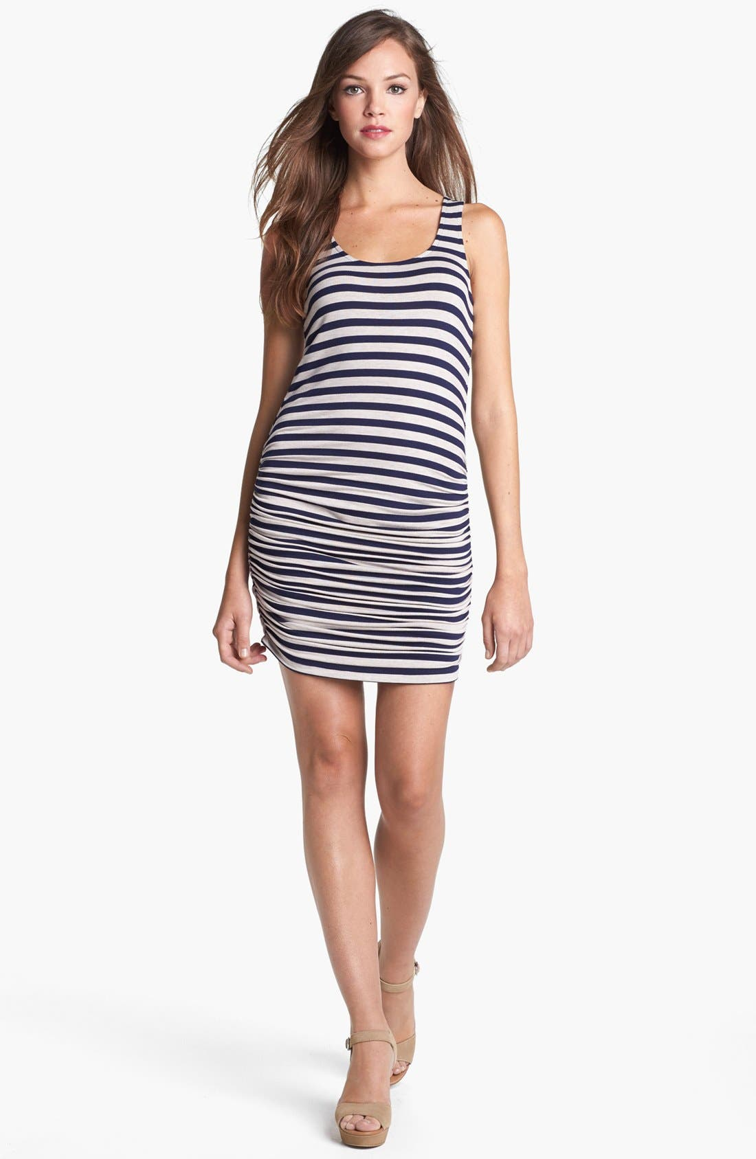 Alternate Image 1 Selected - Olivia Moon Ruched Knit Tank Dress