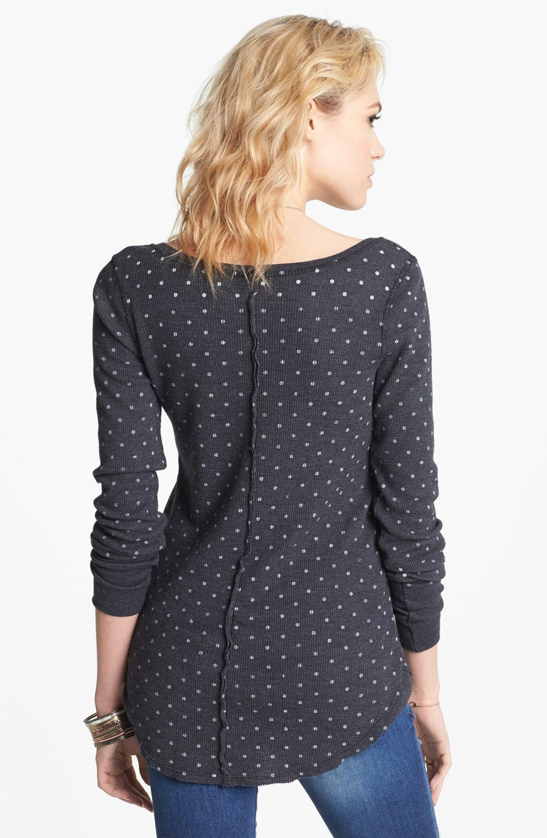 Alternate Image 2  - Free People Polka Dot Thermal Tee