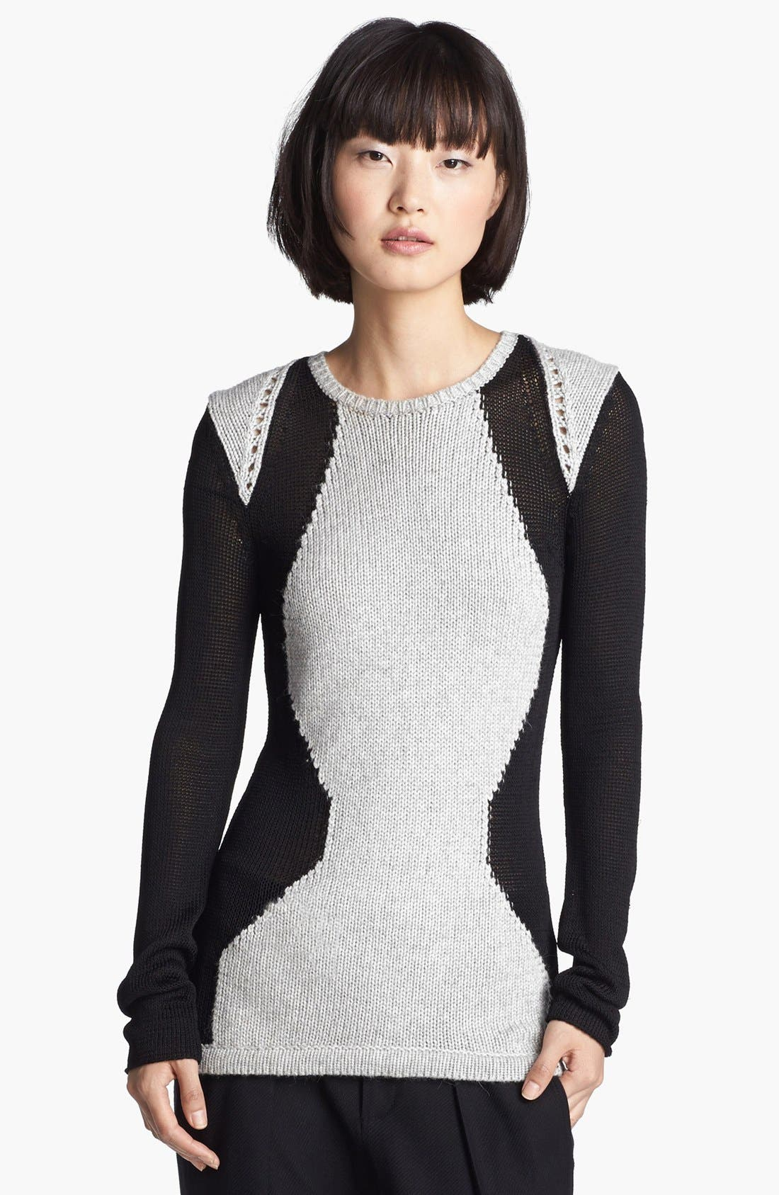 Alternate Image 1 Selected - Helmut Lang Contrast Sweater
