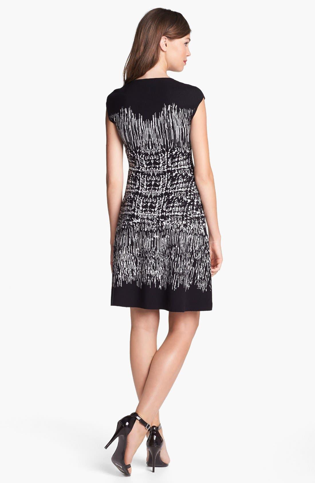 Alternate Image 2  - BCBGMAXAZRIA Cap Sleeve Sweater Dress